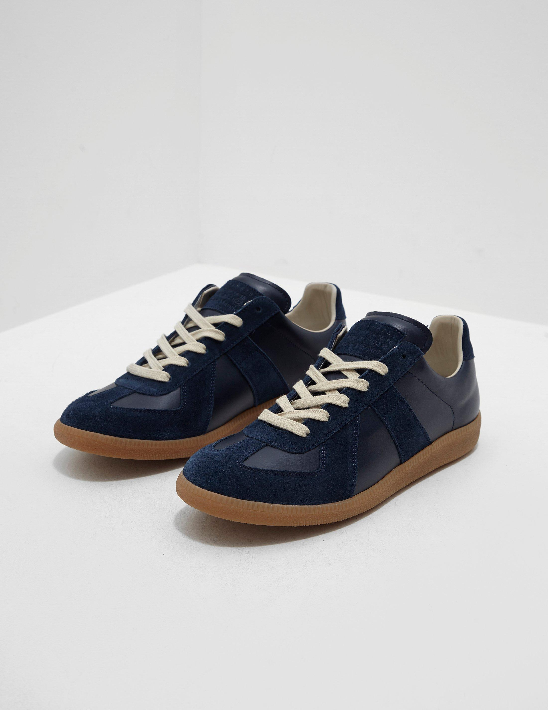 5233025e80 Maison Margiela Replica Trainers Navy Blue in Blue for Men - Save 2 ...