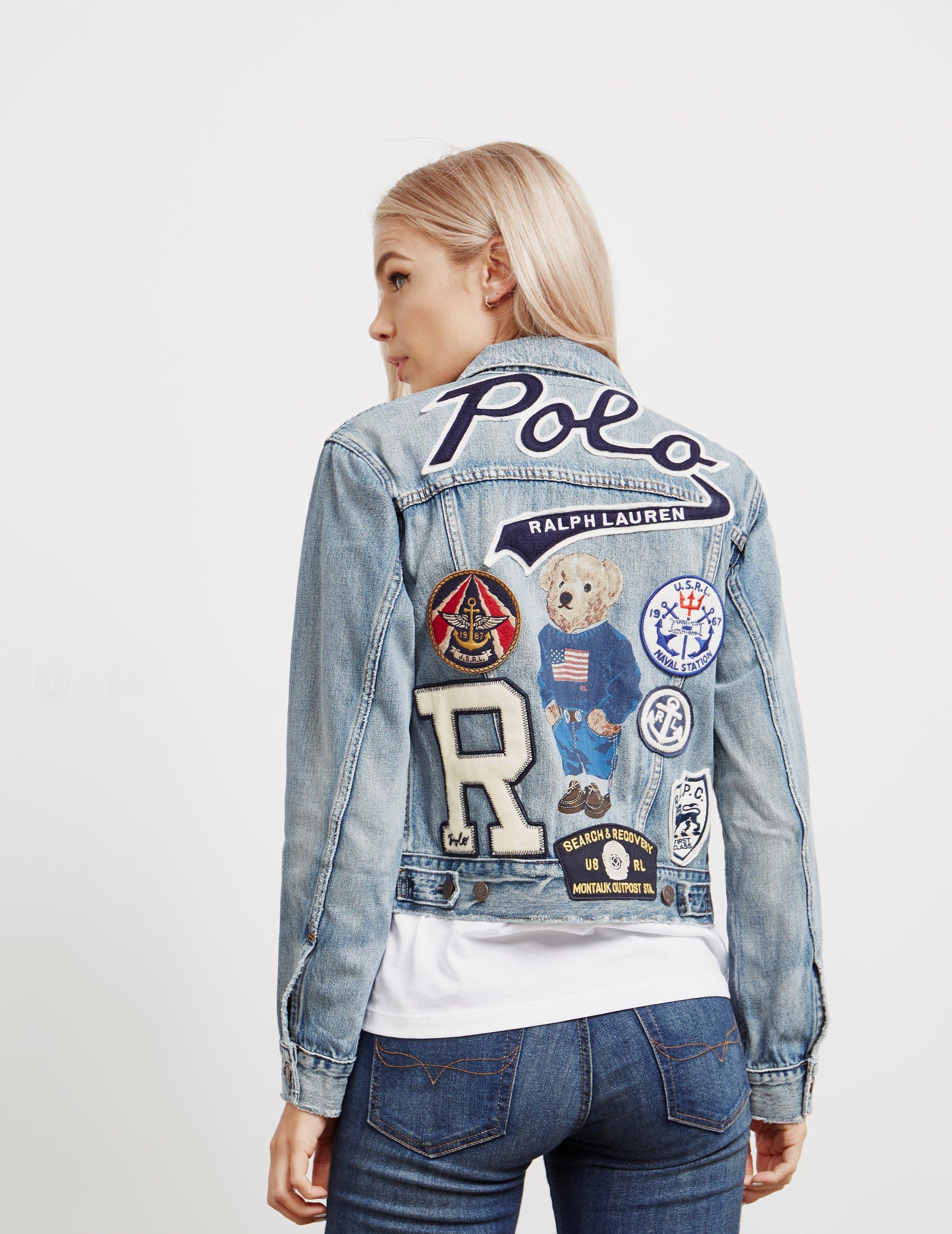 fc7b769b36 Polo Ralph Lauren Womens Bear Trucker Denim Jacket - Online ...