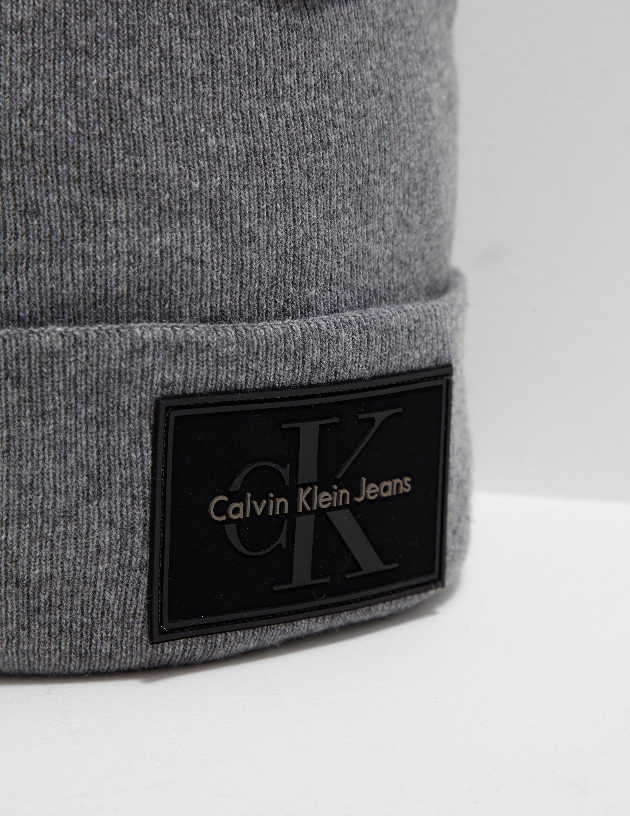 68a38f429ef Lyst - Calvin Klein Re-issue Beanie in Gray for Men - Save 57%