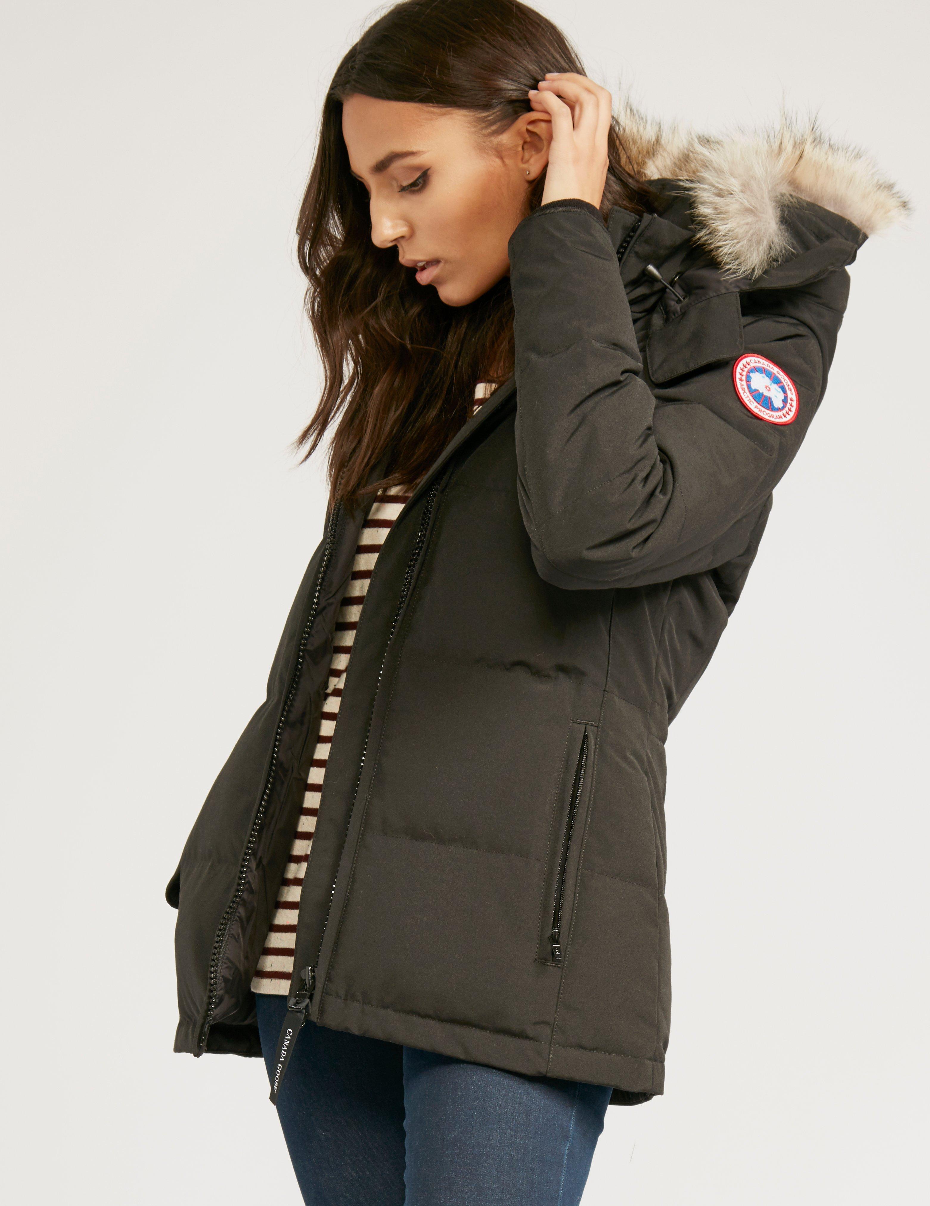 Canada Goose - Womens Chelsea Parka Jacket Black - Lyst. View fullscreen