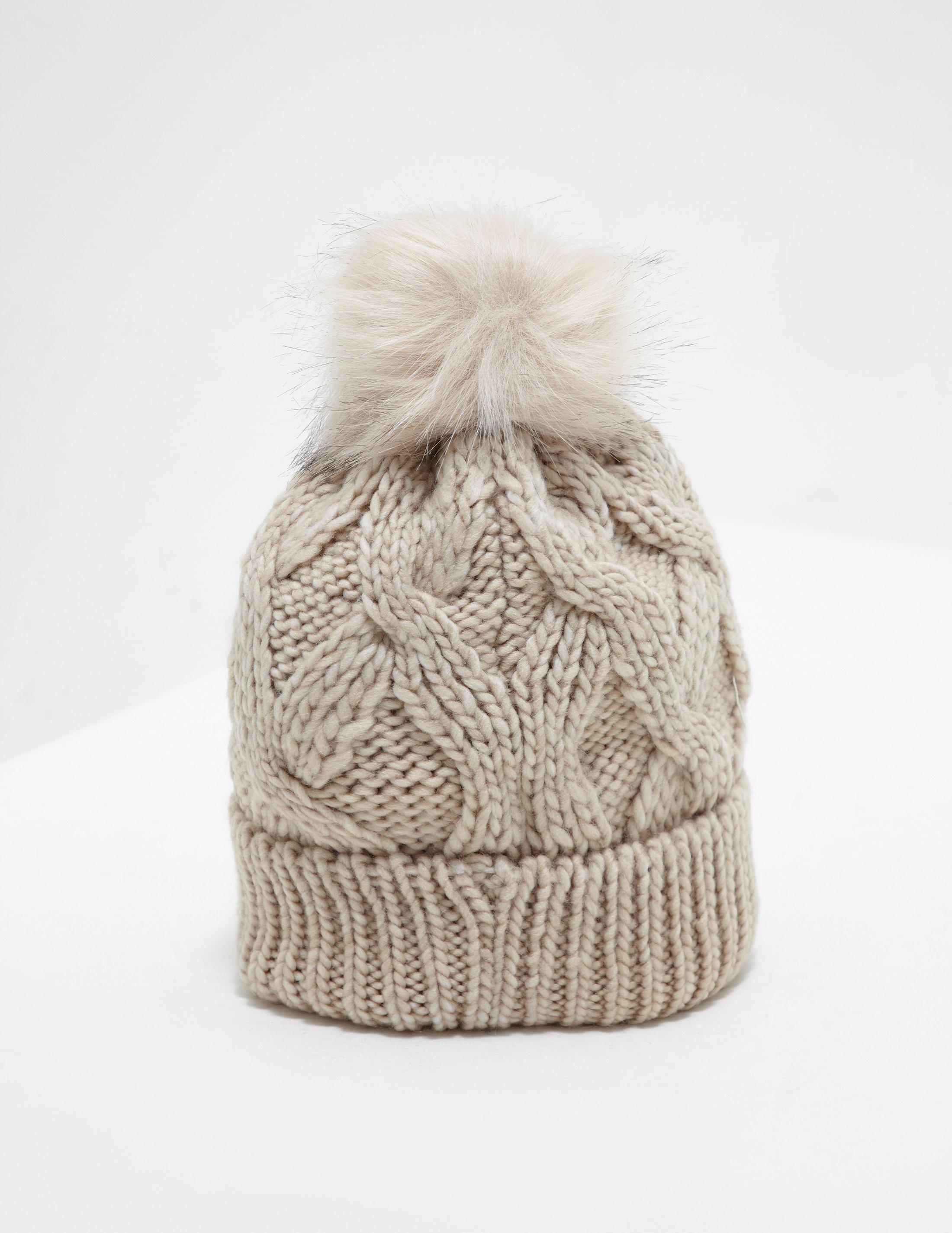 1a4546188341b Barbour Bridport Pompom Beanie Beige in Natural - Lyst
