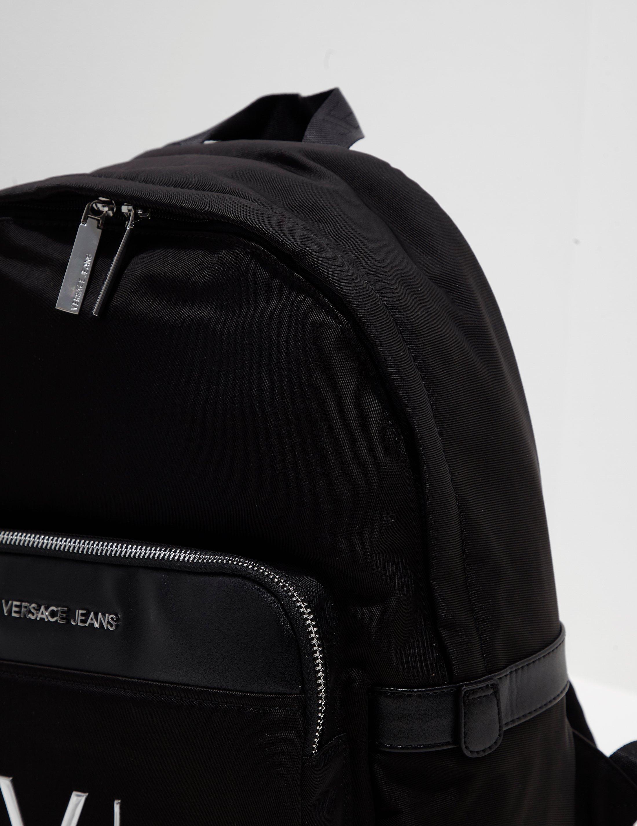 200a0f479634 Lyst - Versace Jeans Mens Linea Logo Backpack Black in Black for Men