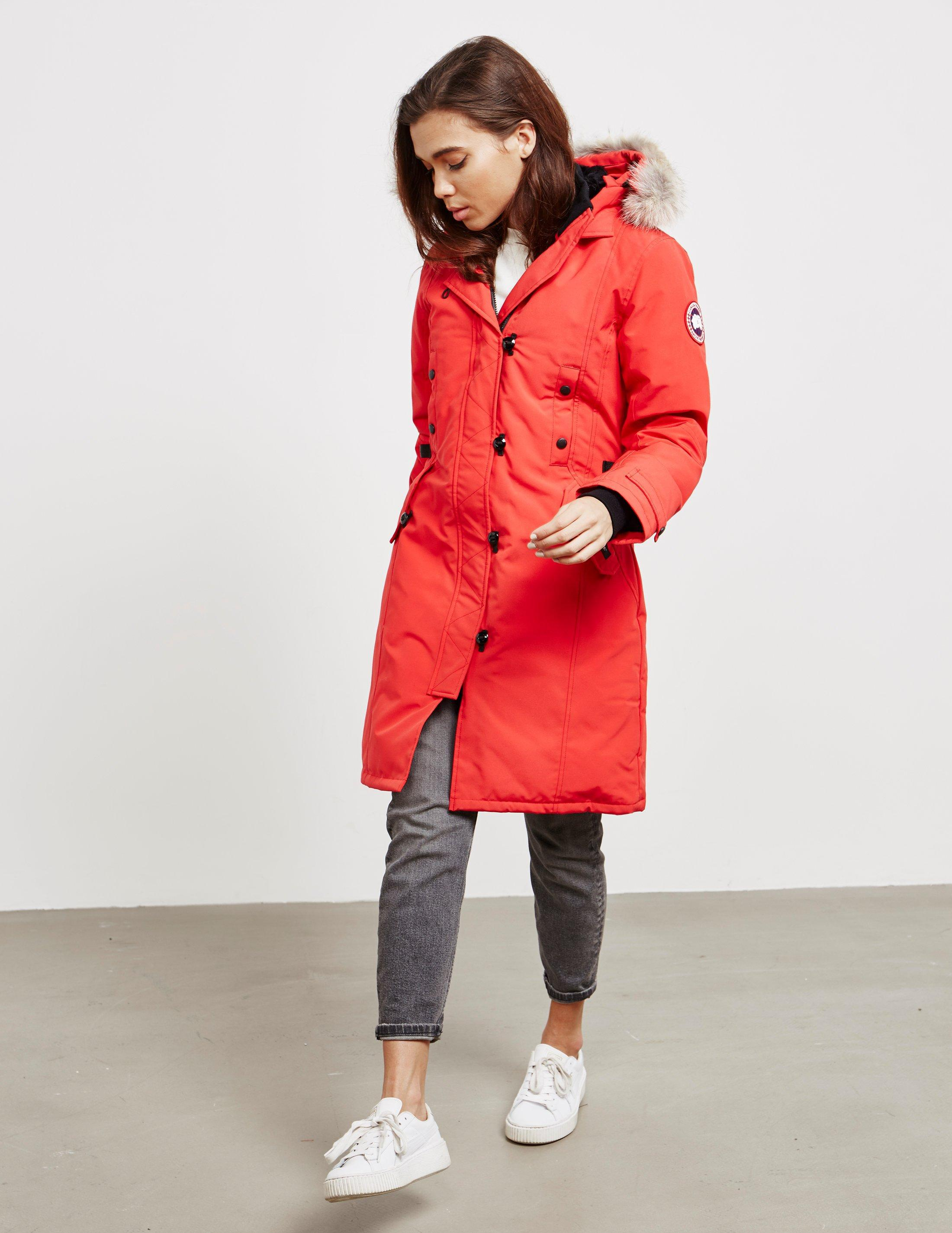 63177205e043d Lyst - Canada Goose Womens Kensington Padded Parka Jacket Red in Red