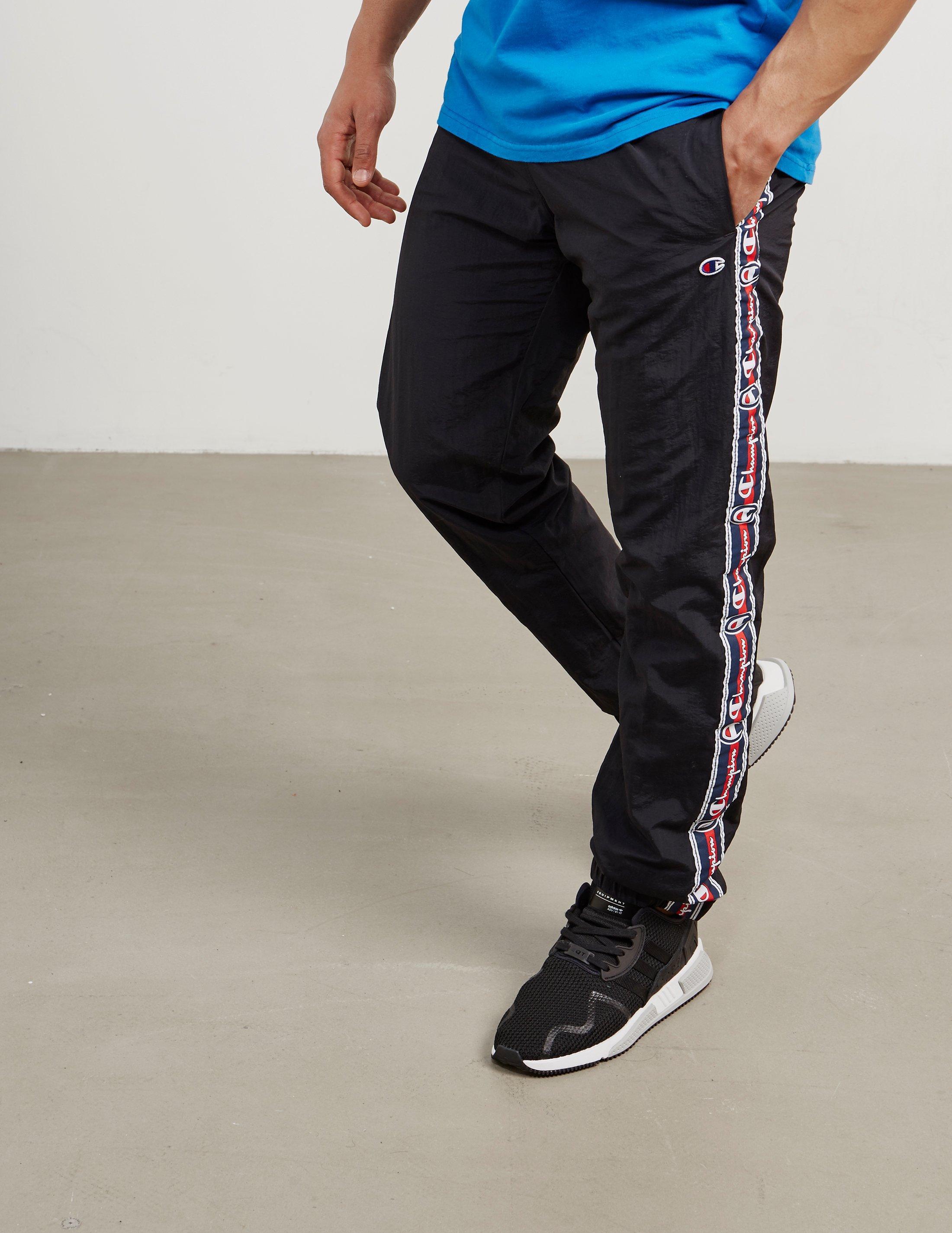 f19d95c4747b Champion Mens Retro Tape Track Pants Black in Black for Men - Lyst