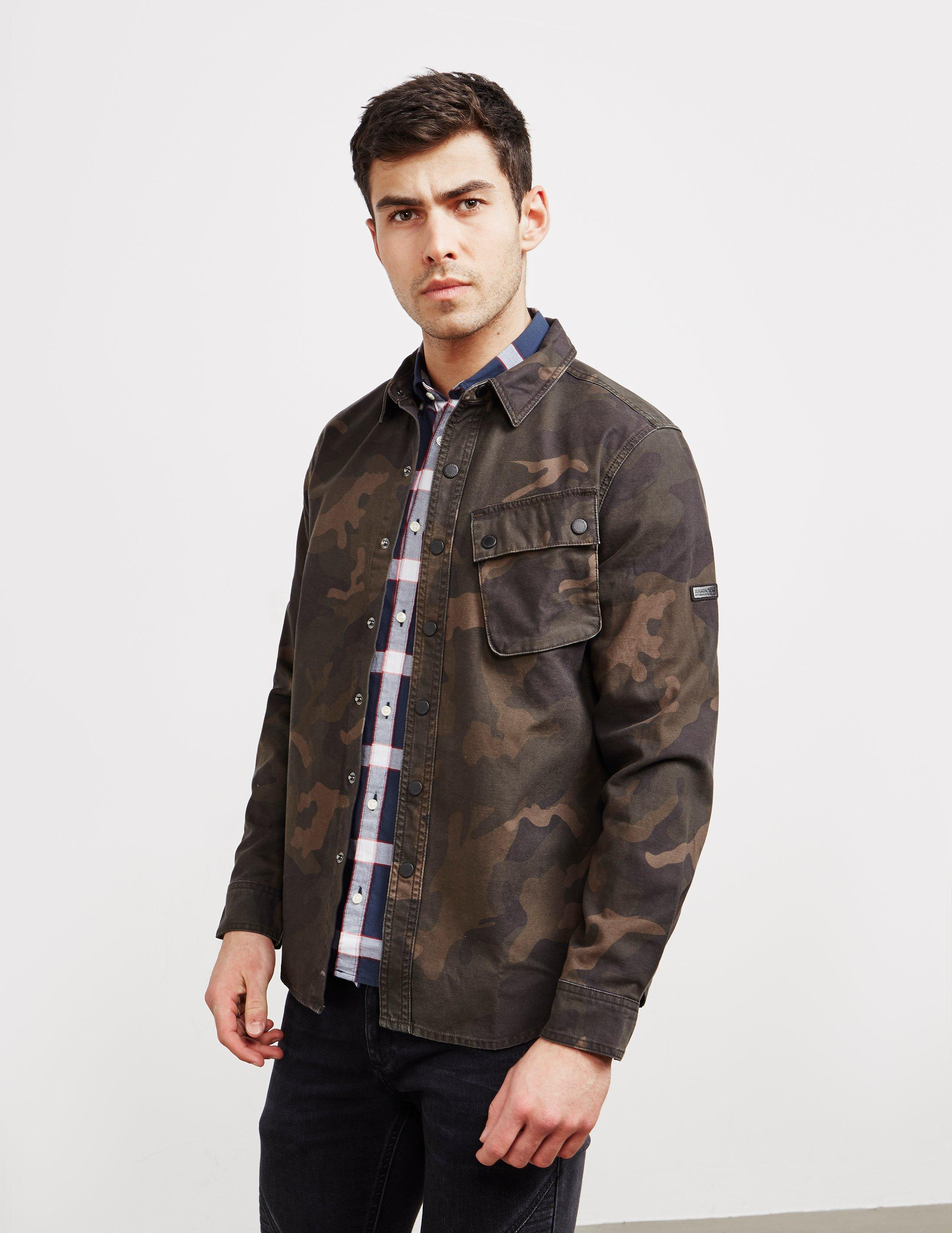 a8f07eff06501 Lyst - Barbour Camouflage Overshirt Green in Green for Men