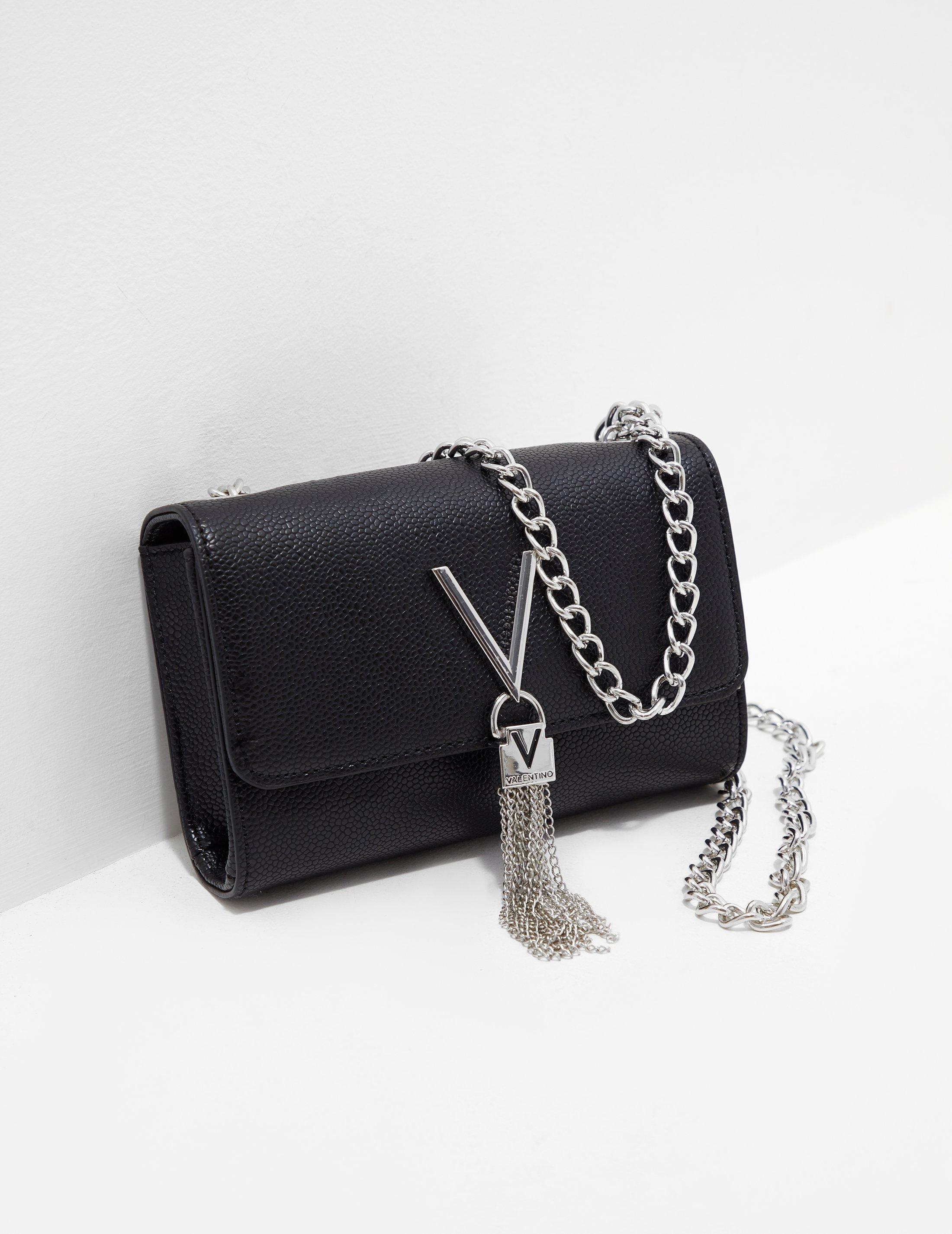 3a7f580e30cb3 Valentino By Mario Valentino. Women s Divina Chain Shoulder Bag Black