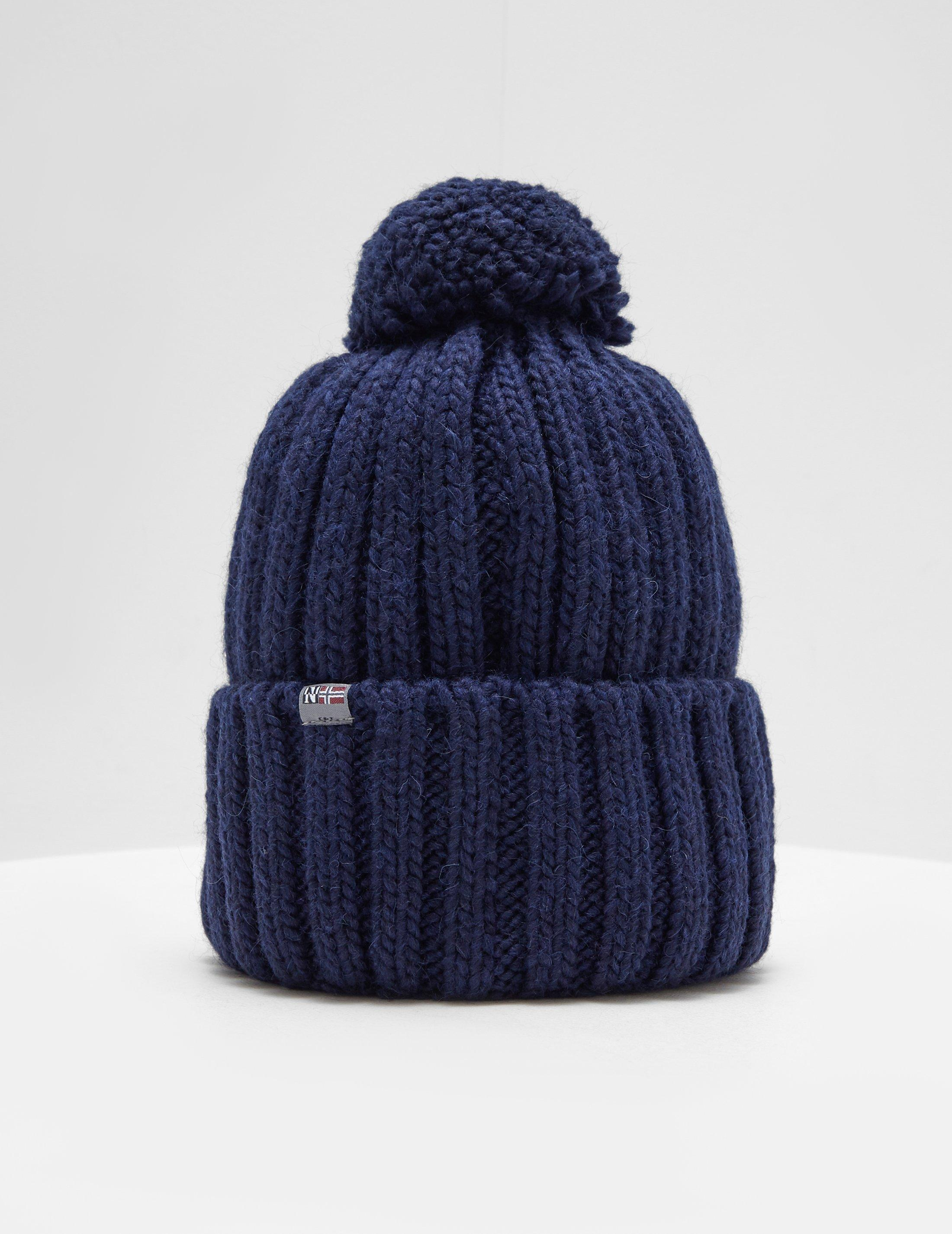 Napapijri Semiury Bobble Hat Navy Blue in Blue for Men - Lyst b370d59920cf