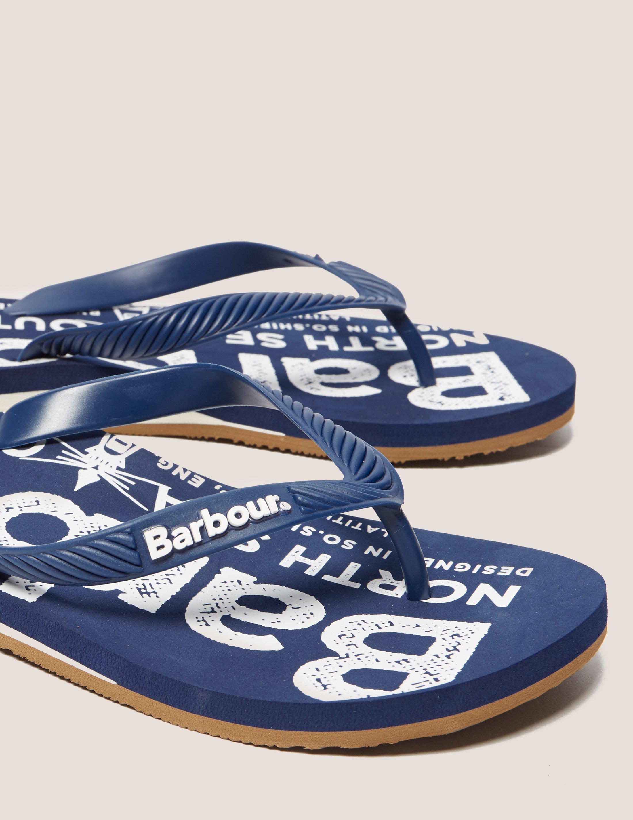 332f8186b0d1 Lyst - Barbour North Sea Beach Flip Flops in Blue for Men