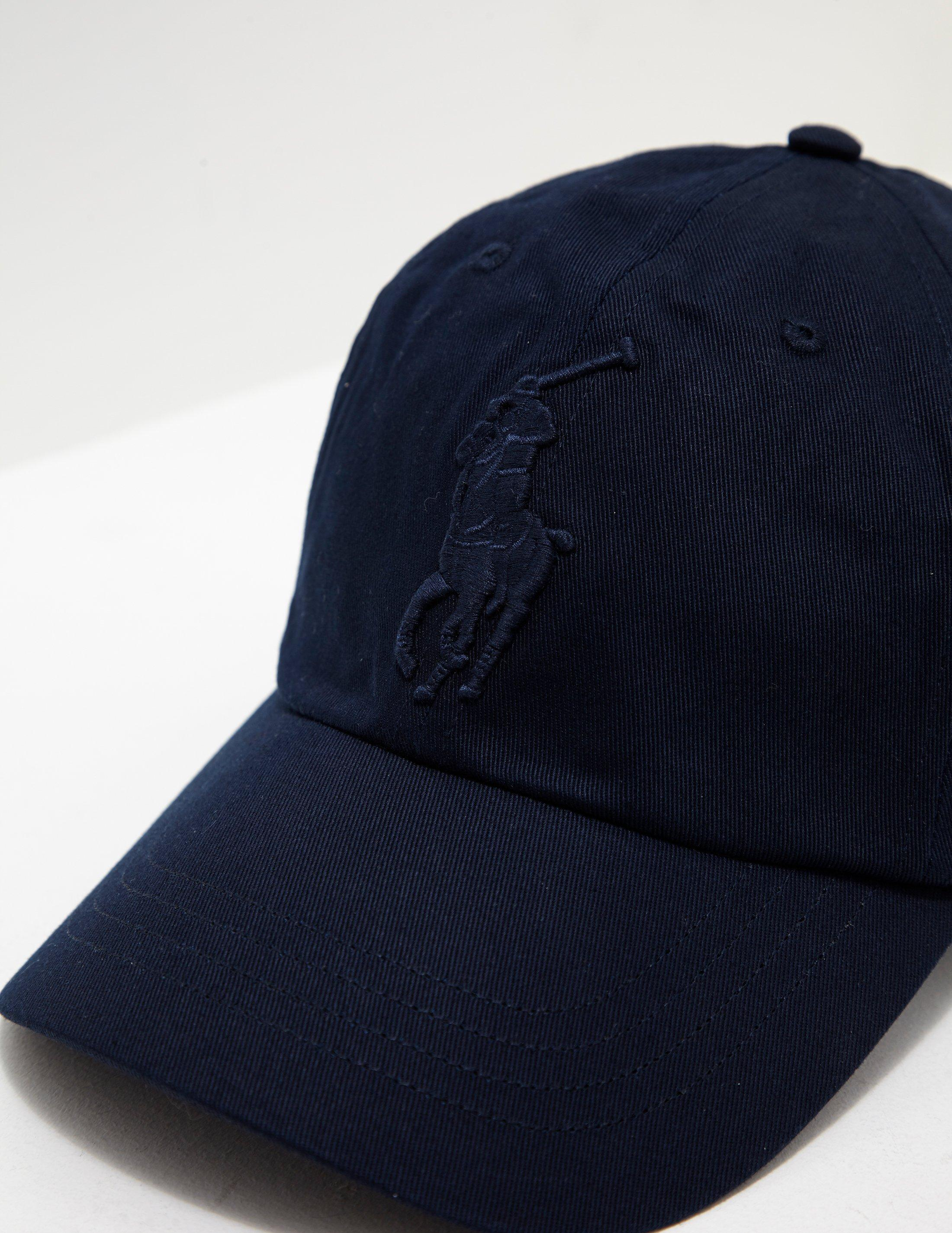 a1a82c2998caf8 Polo Ralph Lauren Mens Large Embroidered Cap Navy Blue in Blue for Men -  Lyst