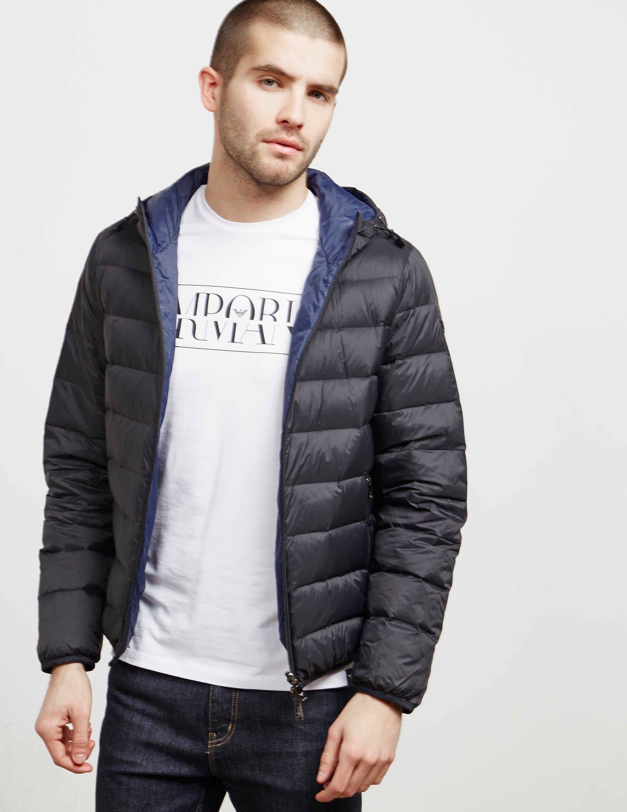 cc0227a3a6a3 Jacket Mens Black In Reversible Armani Down Emporio Padded For 5pTqXZTw