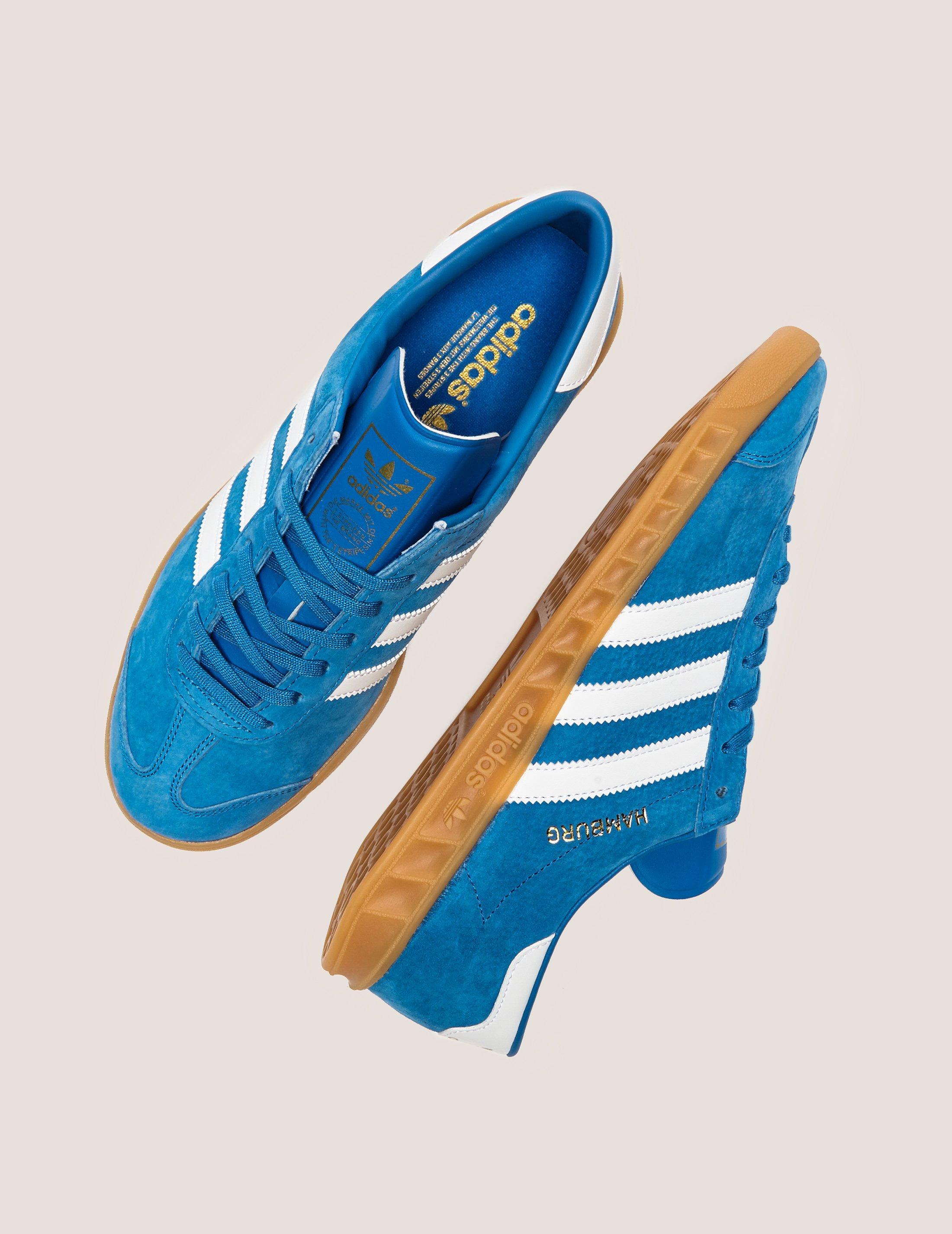 6ac067db7 Adidas Originals Mens Hamburg Bluebird white gum