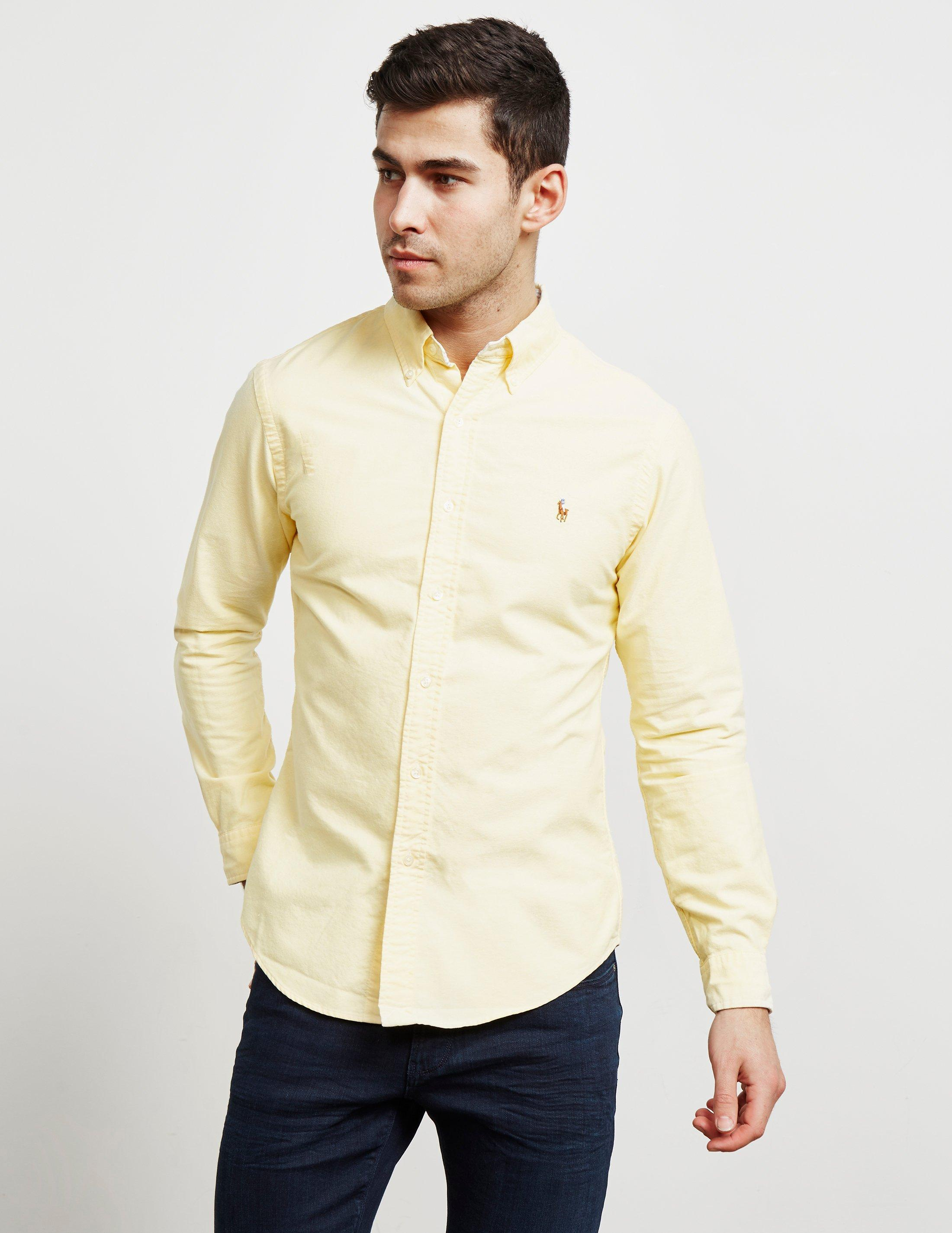 0f42a3a6f72 Polo Ralph Lauren Oxford Long Sleeve Shirt Yellow in Yellow for Men ...