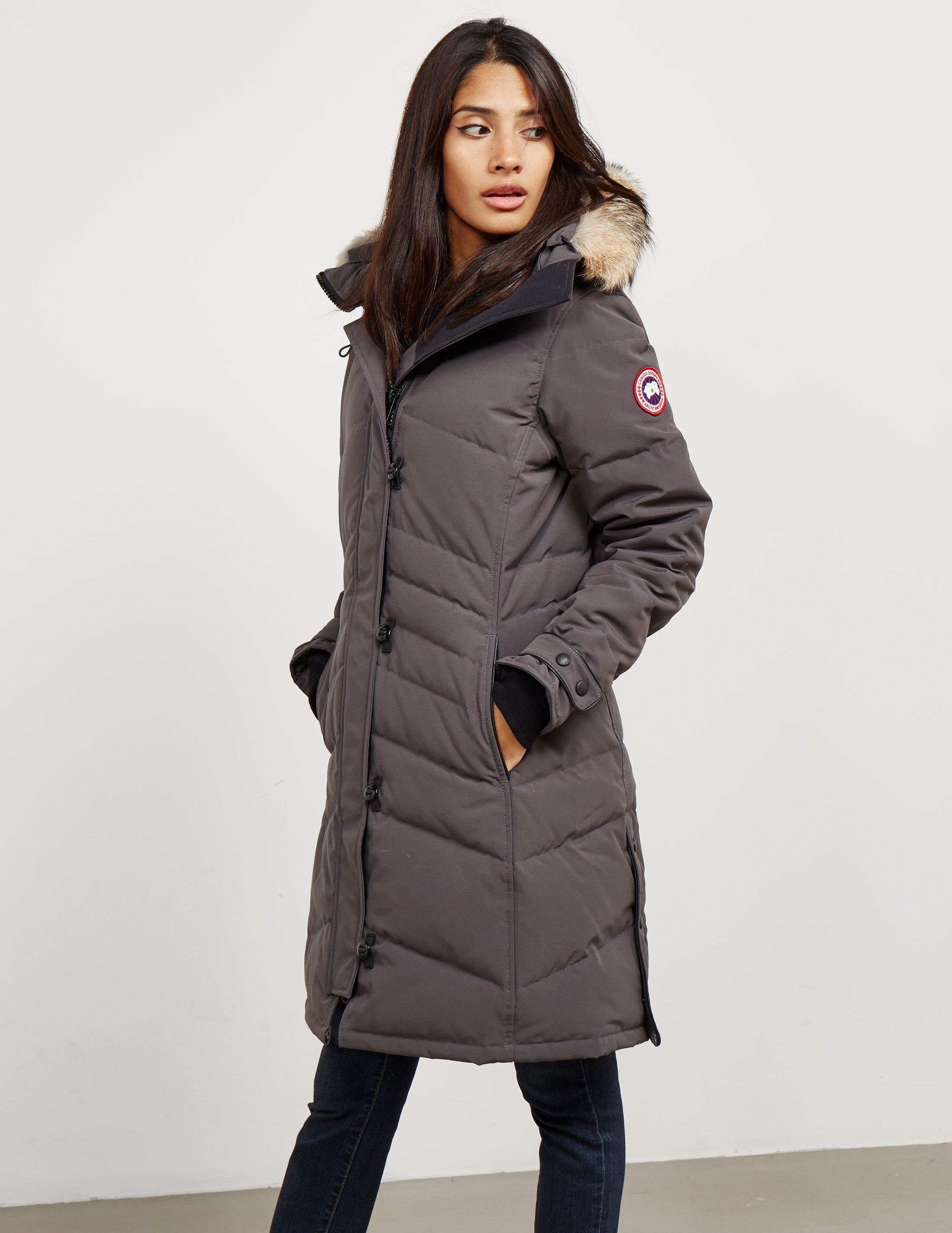 Canada Goose. Gray Womens Lorette Padded Parka Jacket Grey