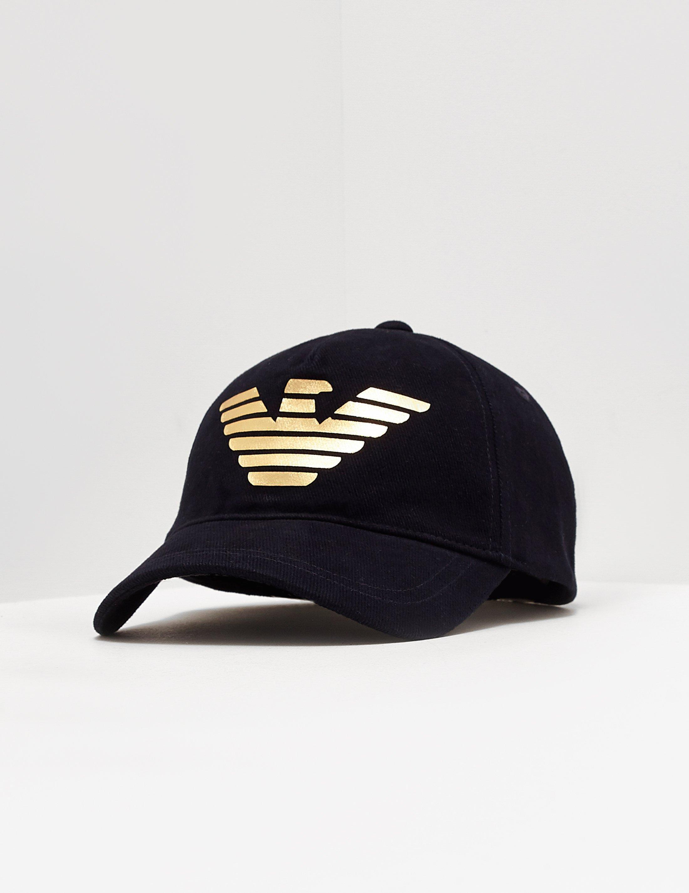 81698af237483 Emporio Armani Foil Eagle Cap Navy Blue in Blue for Men - Lyst