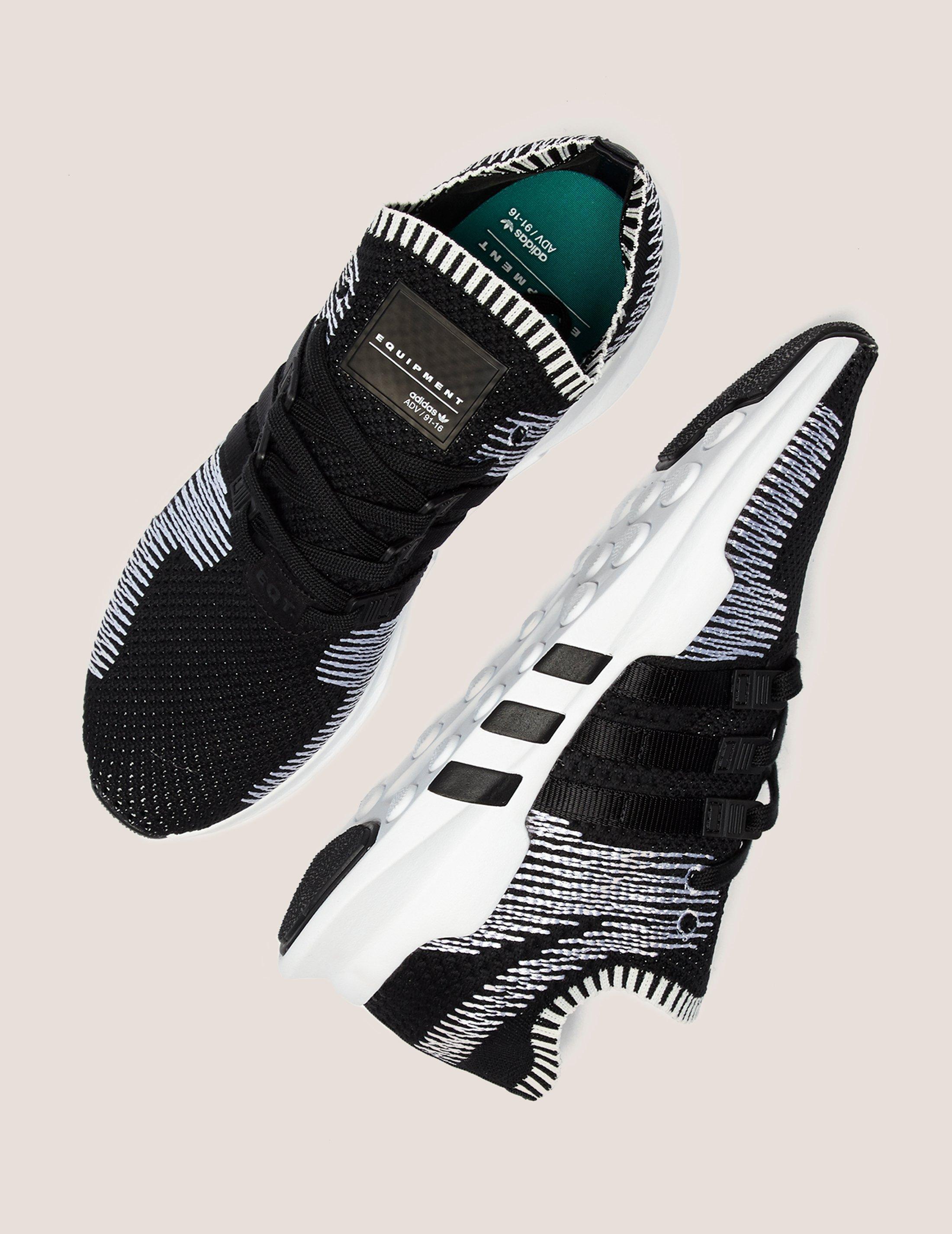 Lyst adidas Originals hombre  EQT Support ADV primeknit negro / blanco