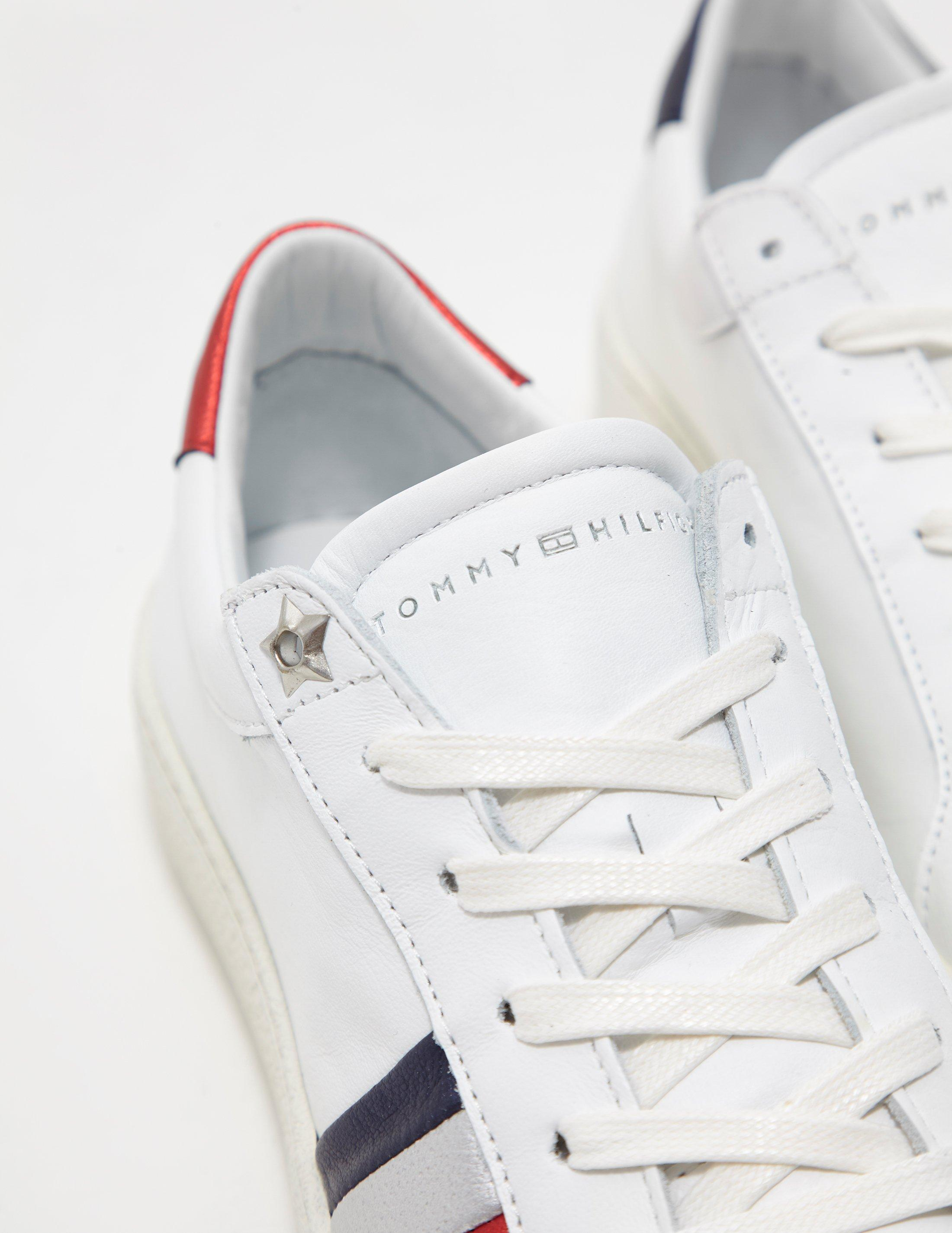 4242913cc Lyst - Tommy Hilfiger Iconic Sneaker - Online Exclusive White in White -  Save 43%