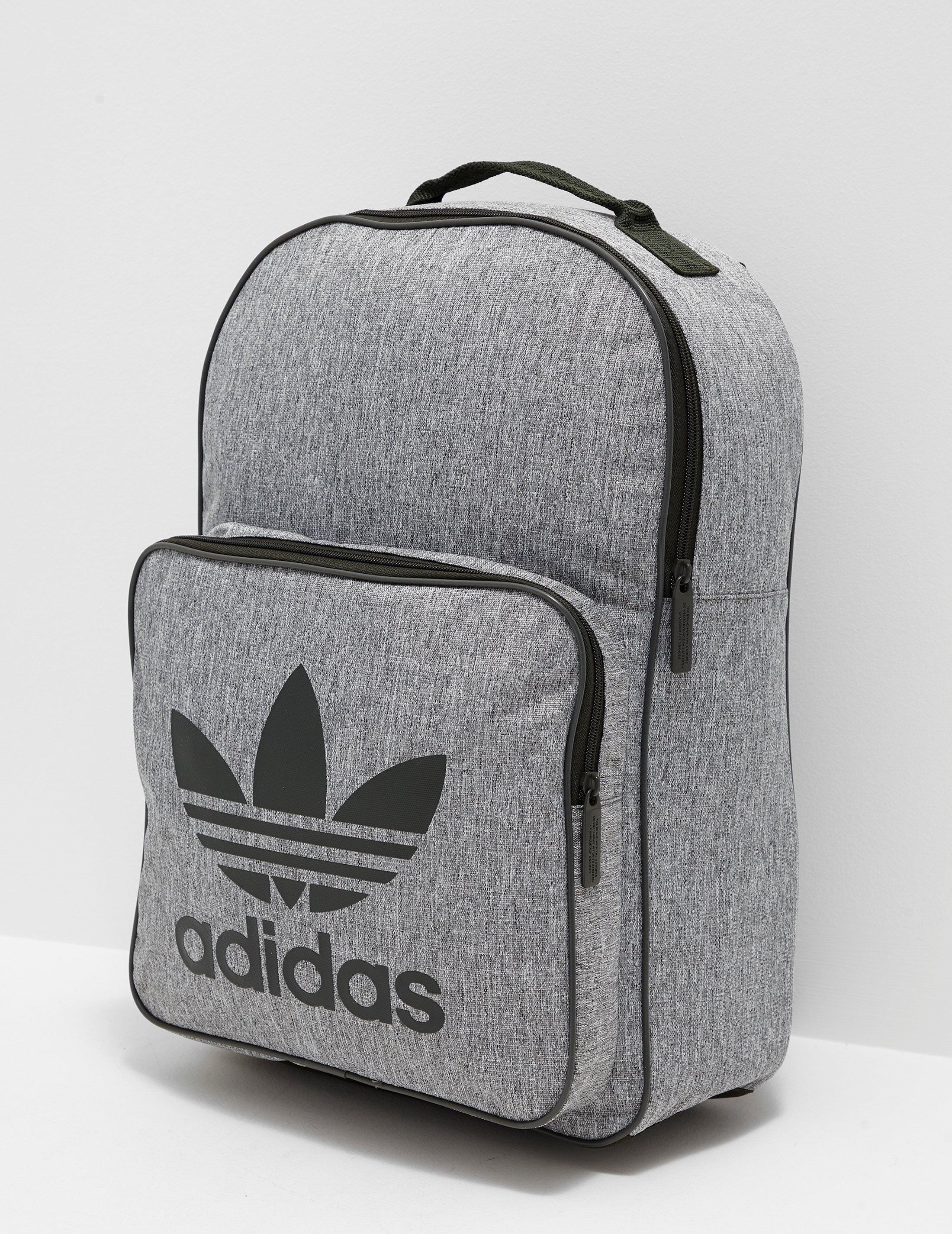 dcd9639f7b3d Lyst - adidas Originals Womens Trefoil Backpack Grey cargo