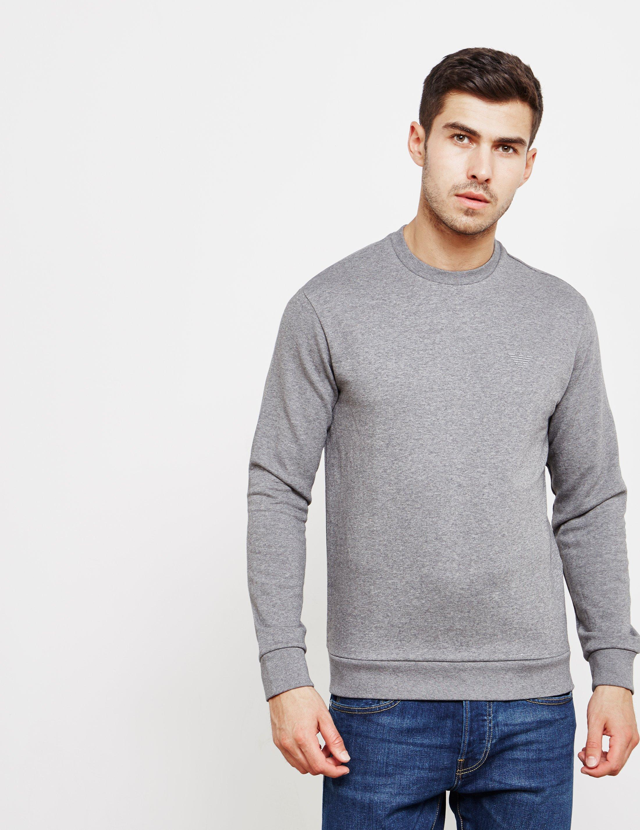 39ecac4aaa4 Emporio Armani Mens Basic Crew Sweatshirt Grey in Gray for Men - Lyst