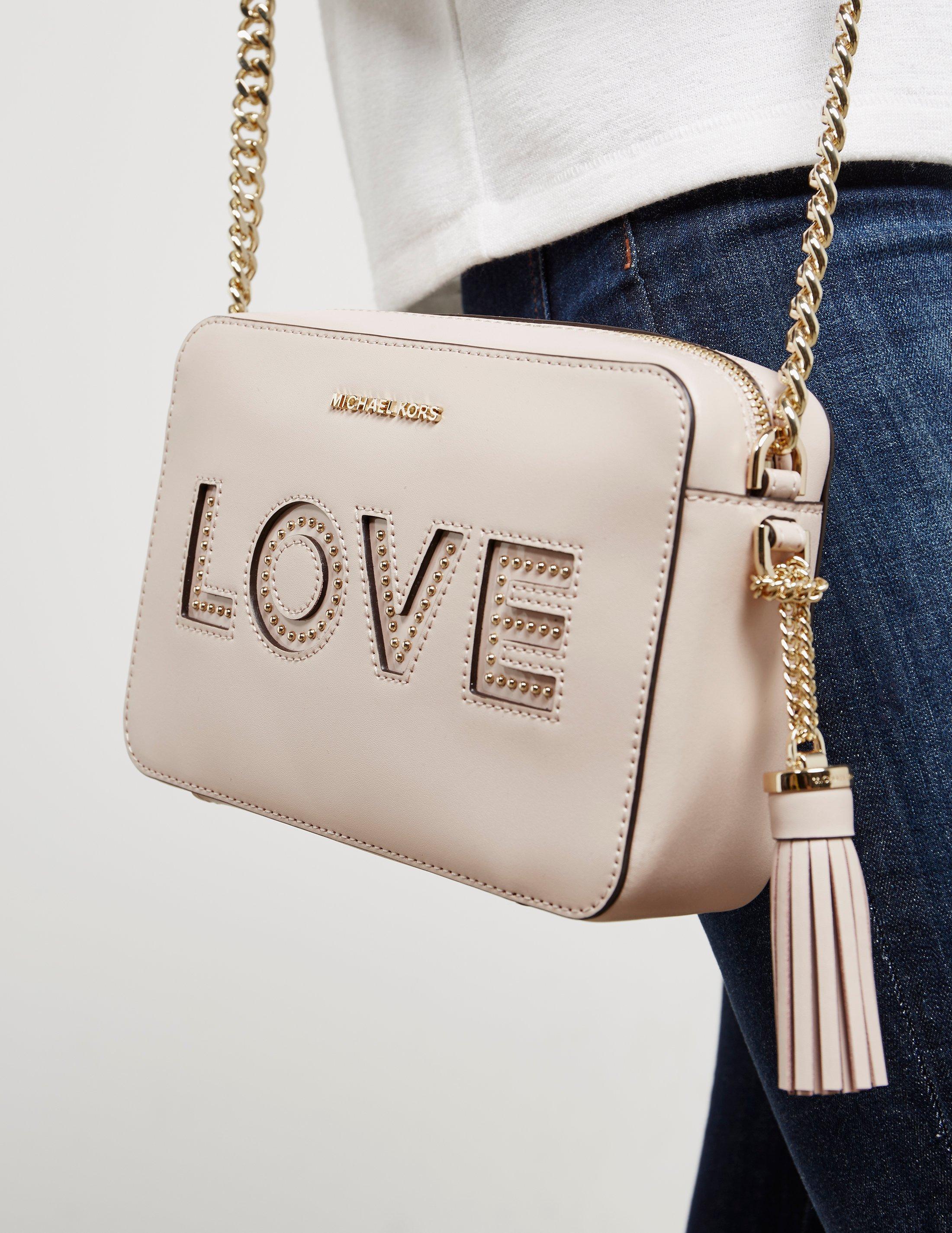 0b7124be3929e Lyst - Michael Kors Womens Ginny Love Camera Bag Pink in Pink