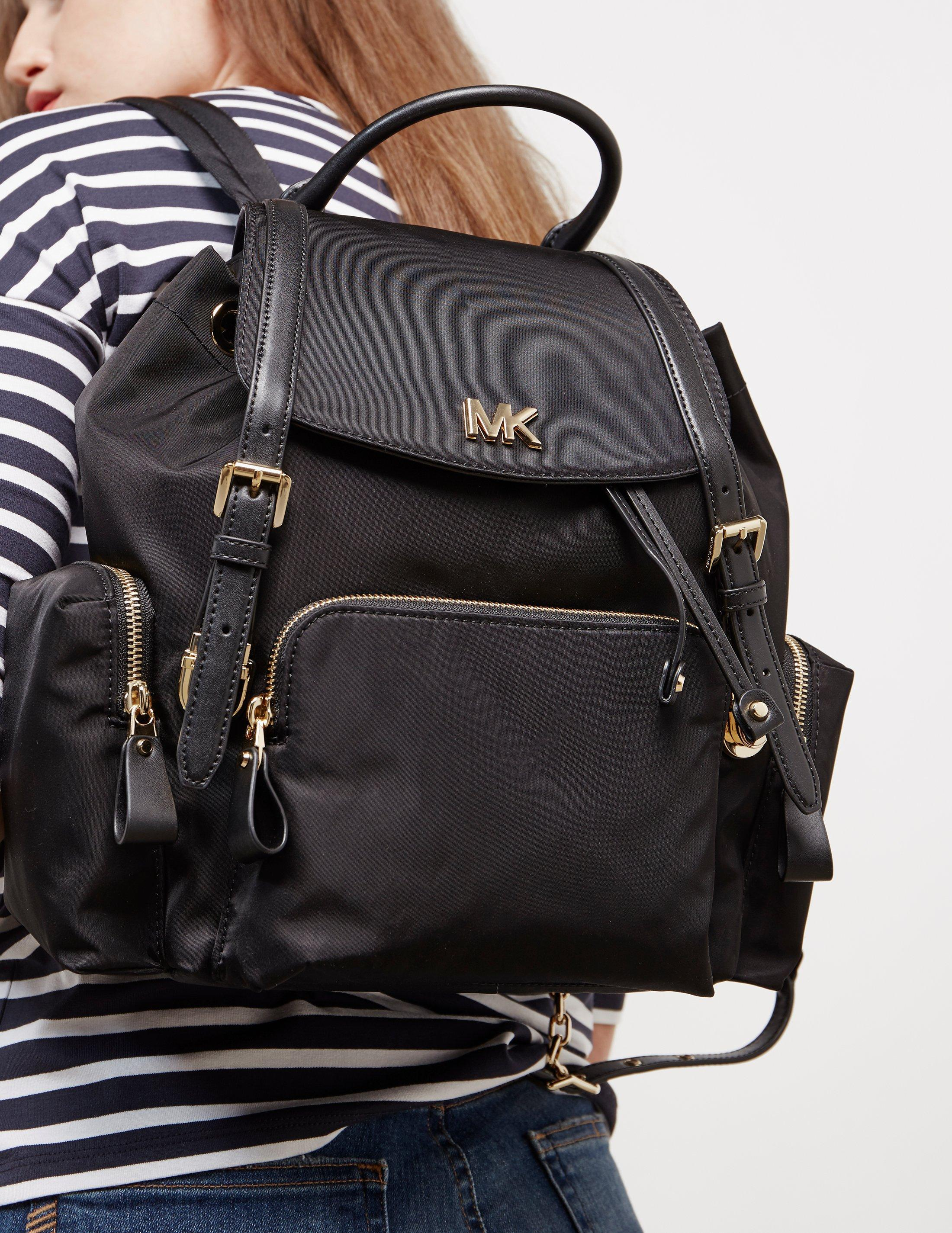 e7a0aab70637 Michael Kors Womens Beacon Backpack Black in Black - Lyst