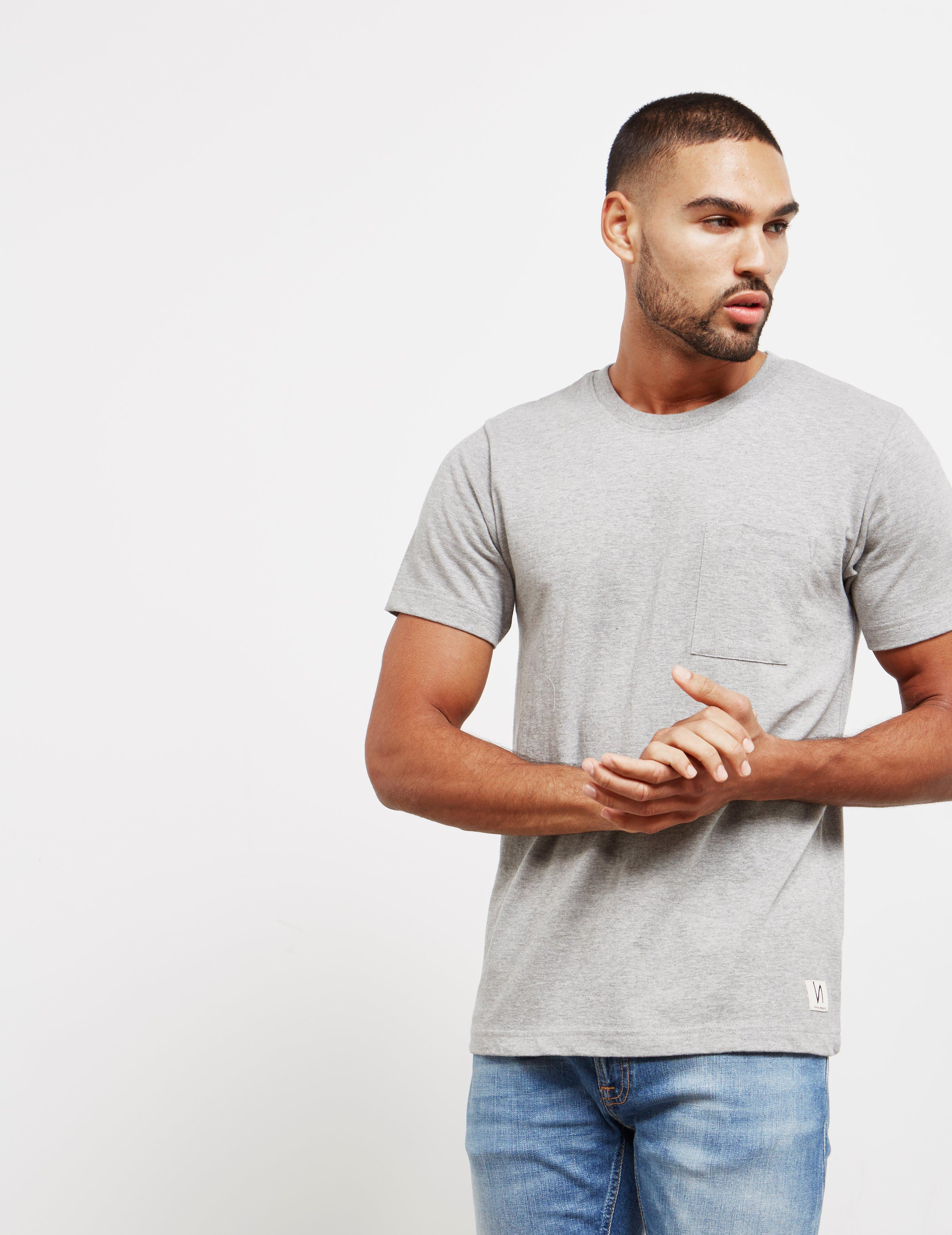48efc0e1 Lyst - Nudie Jeans Mens Worker Short Sleeve T-shirt Grey in Gray for Men