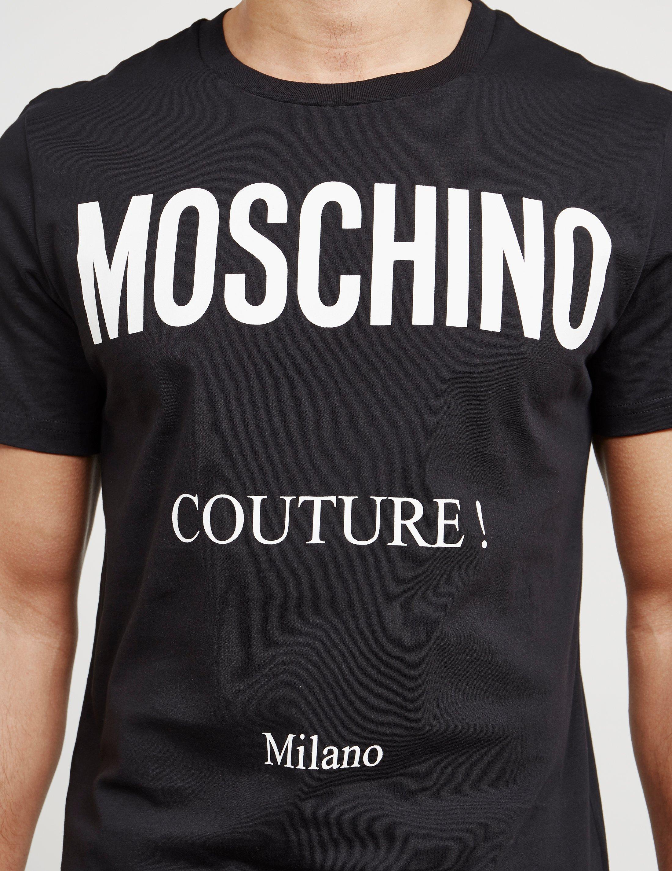 c48aa05ff Moschino Mens Milano Couture Short Sleeve T-shirt Black in Black for ...