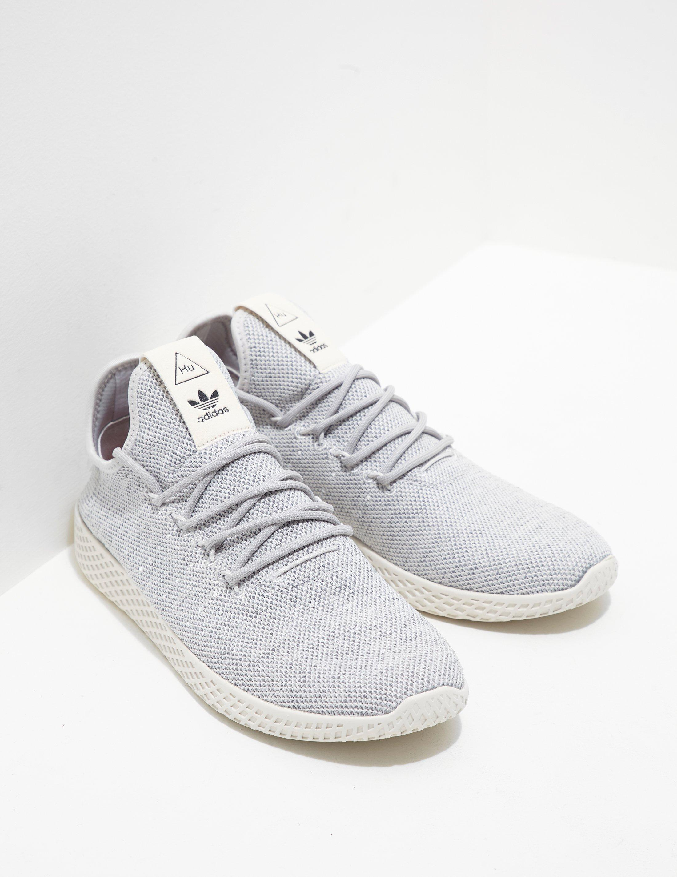 Adidas Originals Gray Mens X Pharrell Williams Tennis Hu Primeknit Grey for men