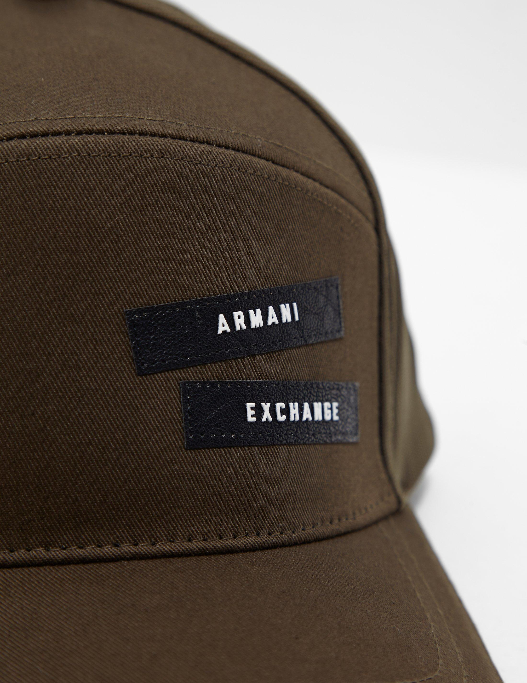 ee64a1b7 Lyst - Armani Exchange 5 Panel Cap Green in Green for Men