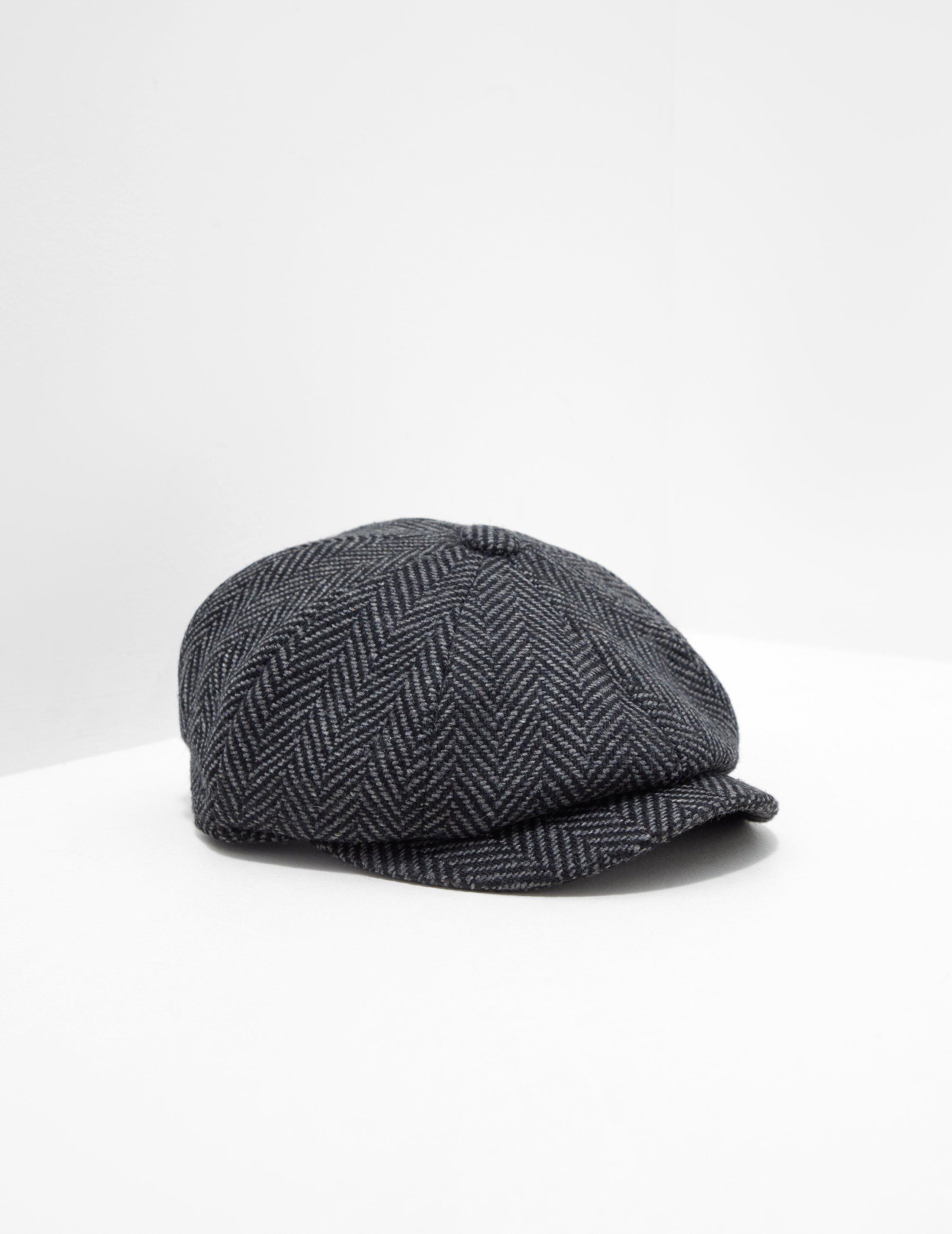 07a02198510 Barbour Mens Herringbone Tweed Baker Boy Hat - Online Exclusive Grey ...