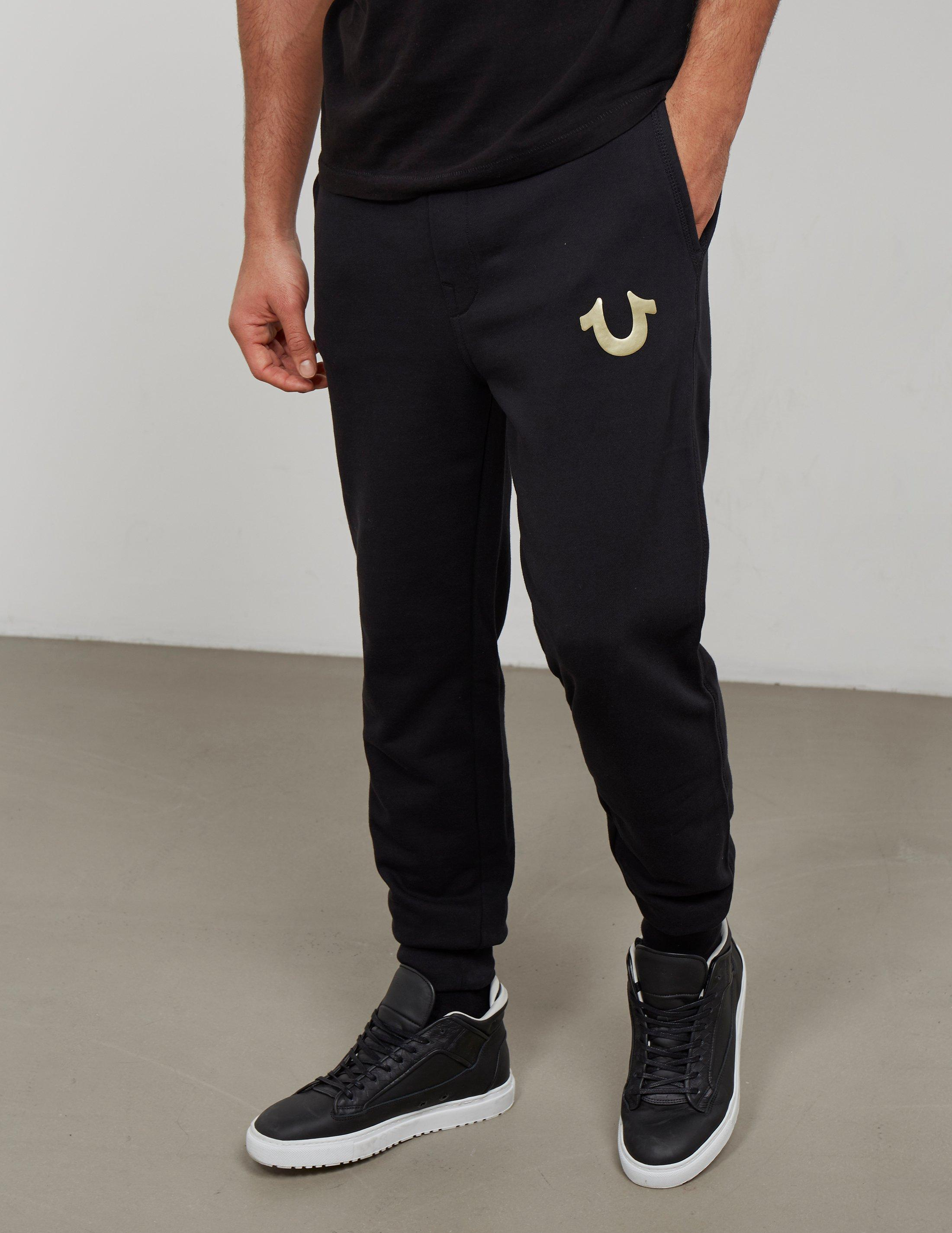 Lyst - True Religion Mens Gold Puff Cuffed Track Pants Black in ... 62fe06f36fc7