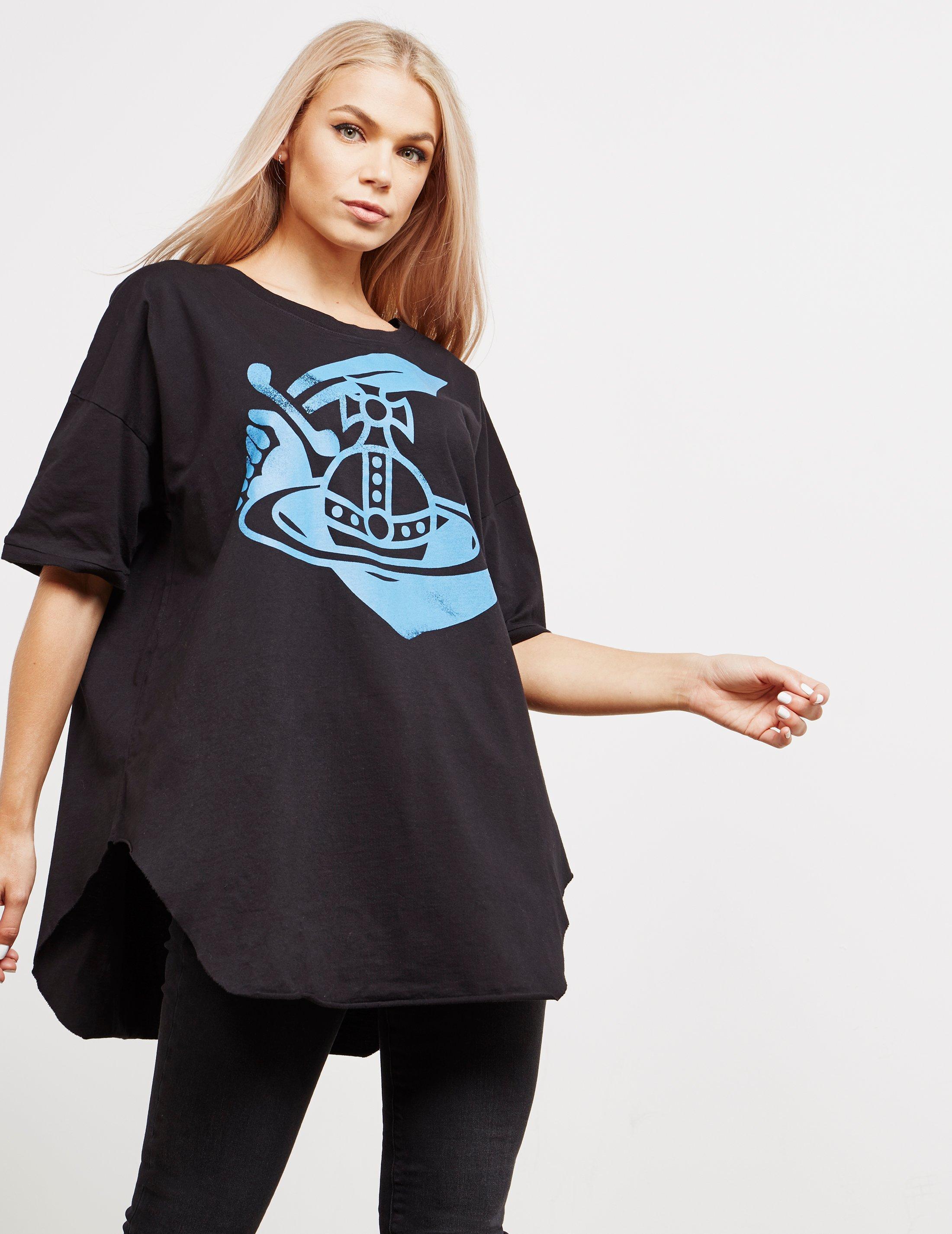 42d6b780298c38 Vivienne Westwood Anglomania Baggy Logo Short Sleeve T-shirt Black ...