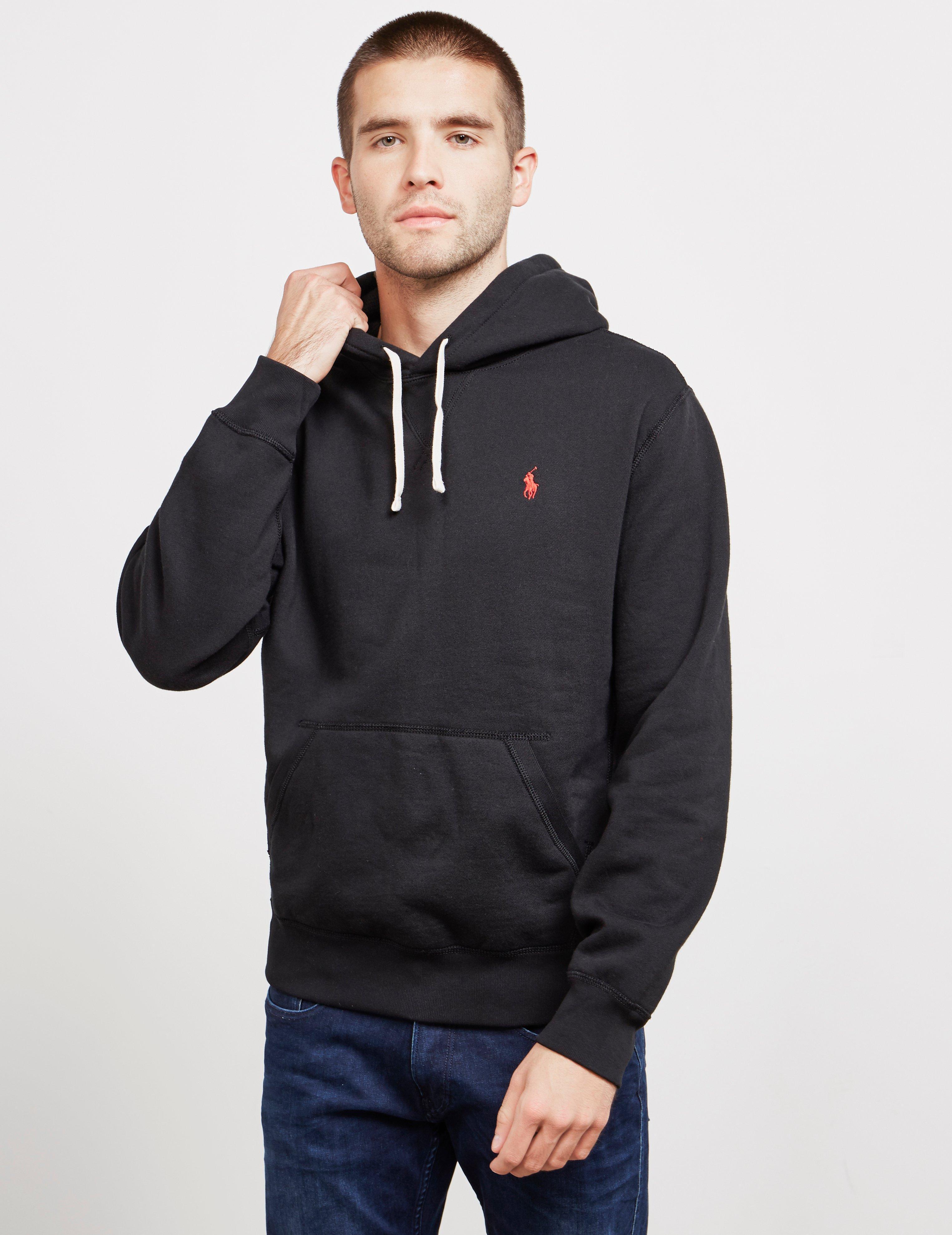 31de30785 Polo Ralph Lauren Fleece Overhead Hoodie Black in Black for Men - Lyst