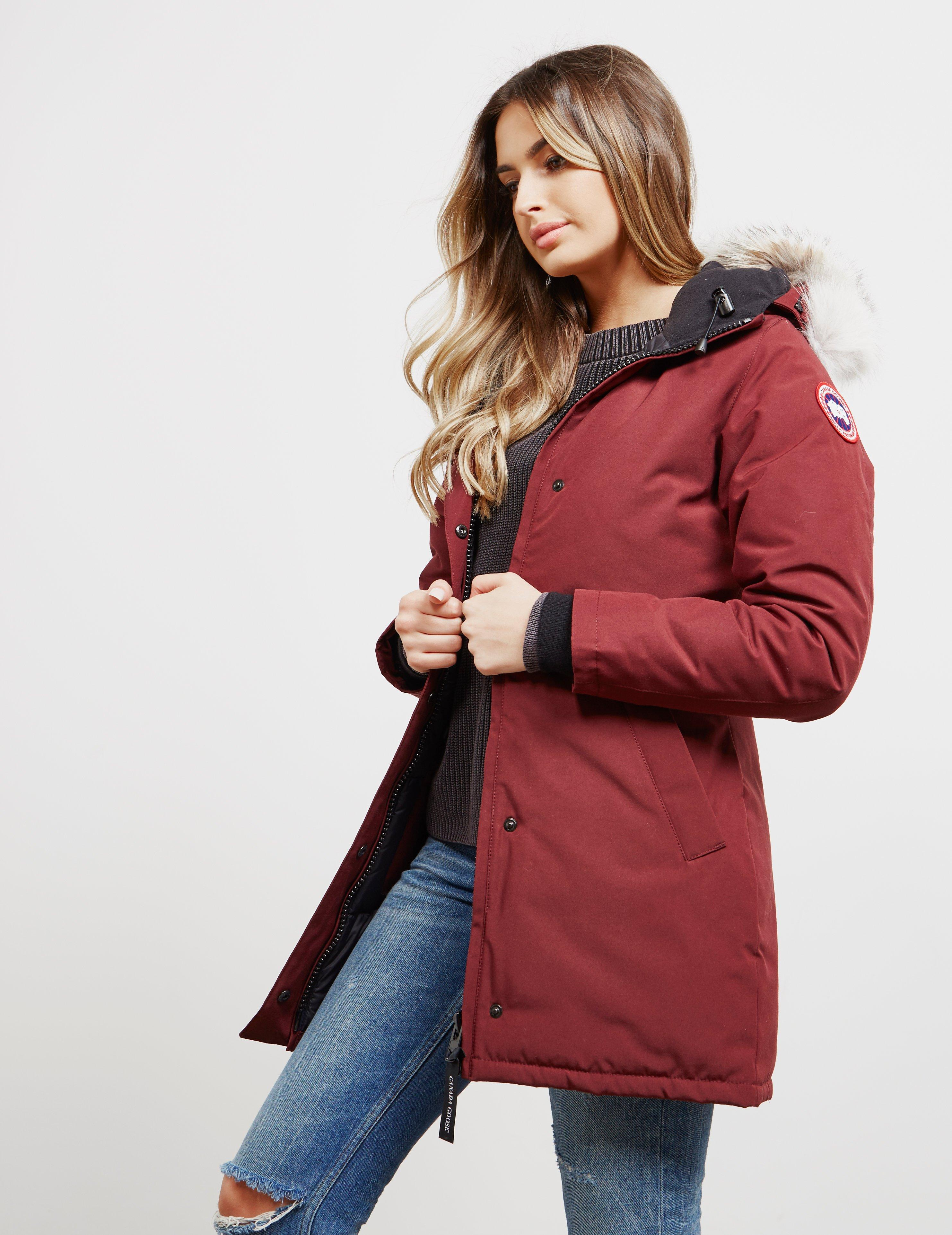 ... discount code for canada goose womens victoria padded parka jacket red  lyst. view fullscreen b59bf 99f4aec9def7