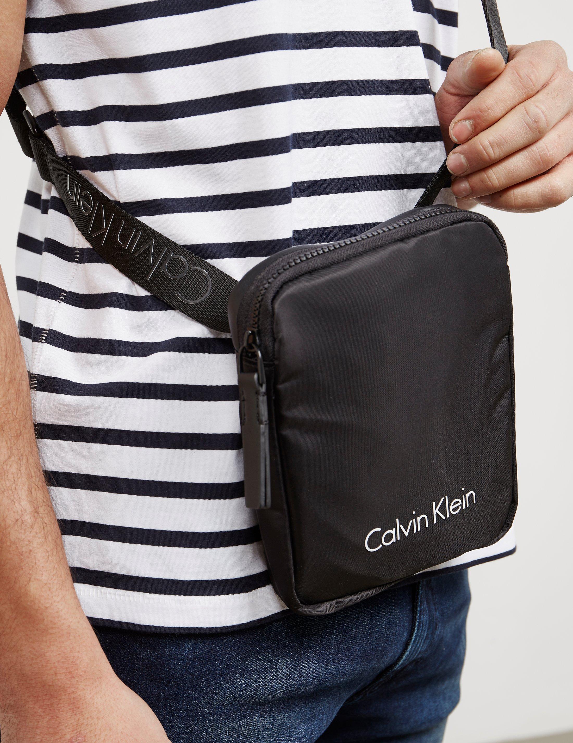 f1dc54d44413 Calvin Klein Mens Blithe Mini Bag Black in Black for Men - Lyst