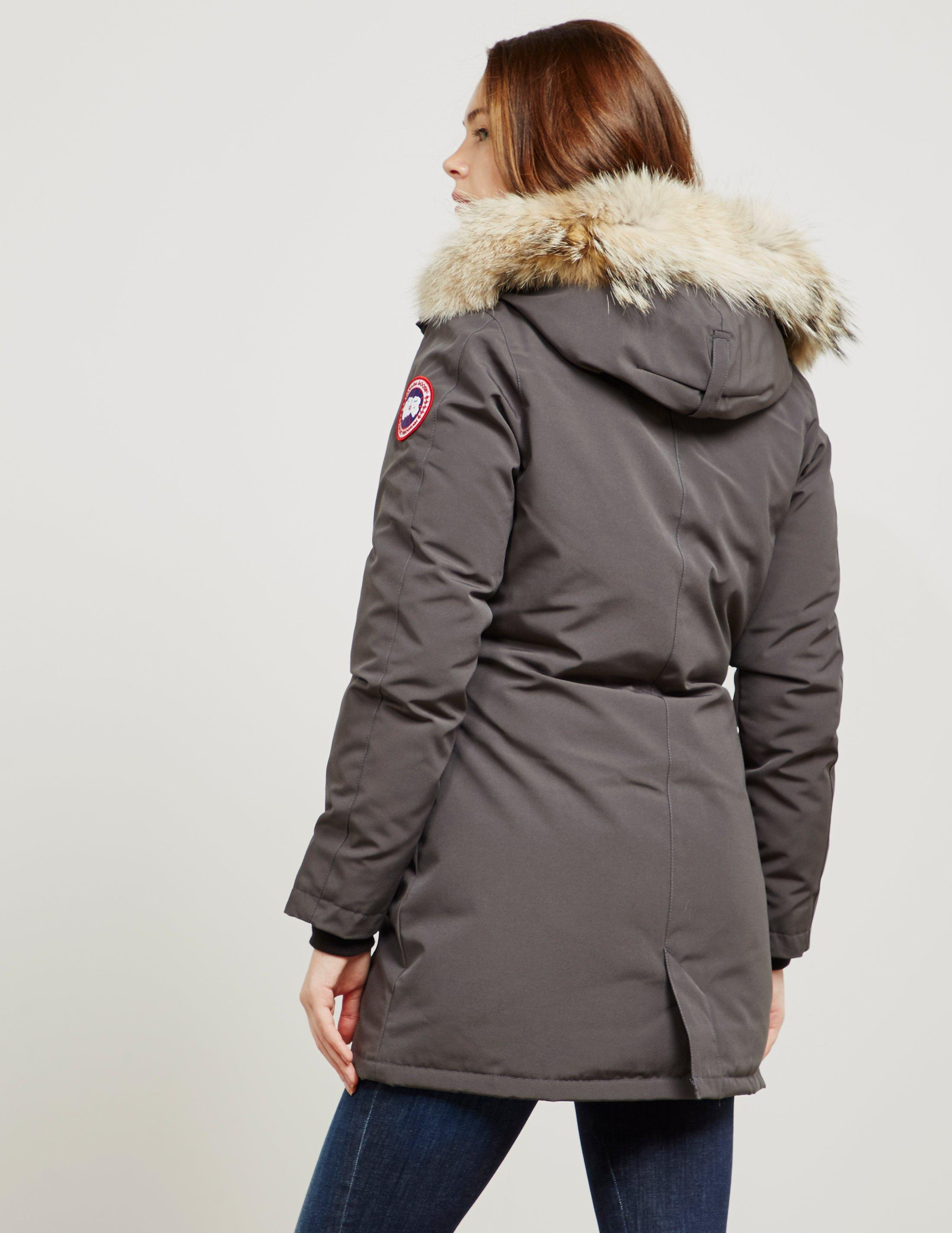 lyst canada goose victoria parka jacket in gray save rh lyst com