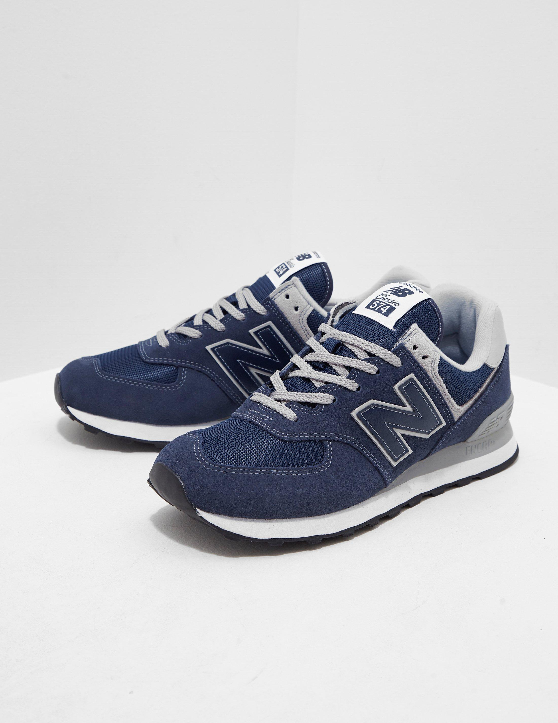 937a0aff4d New Balance 574 Core Navy Shoes in Blue for Men - Lyst