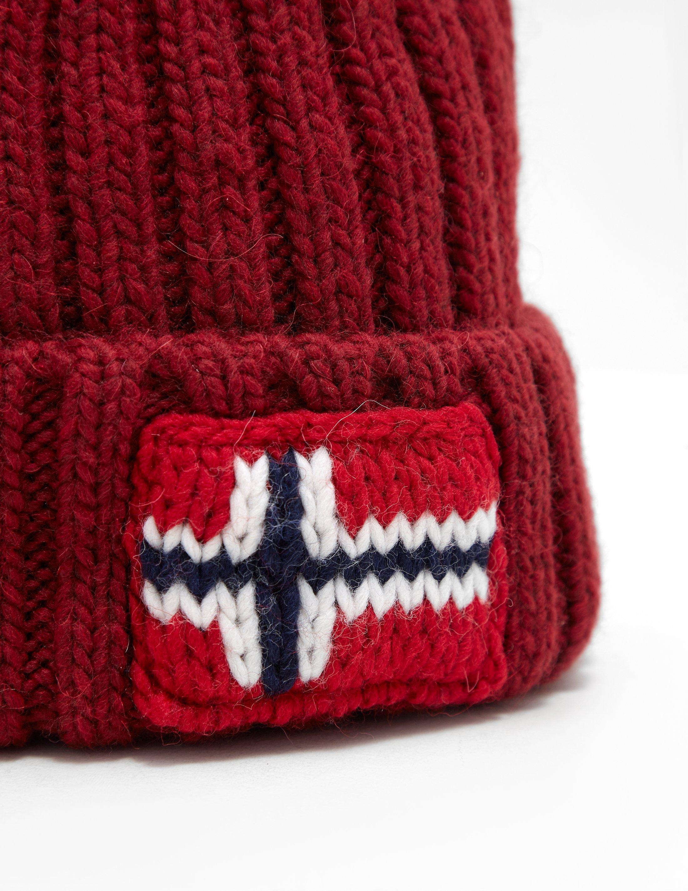 2258750f88b Napapijri Semiury Bobble Hat Burgundy burgundy in Red for Men - Lyst