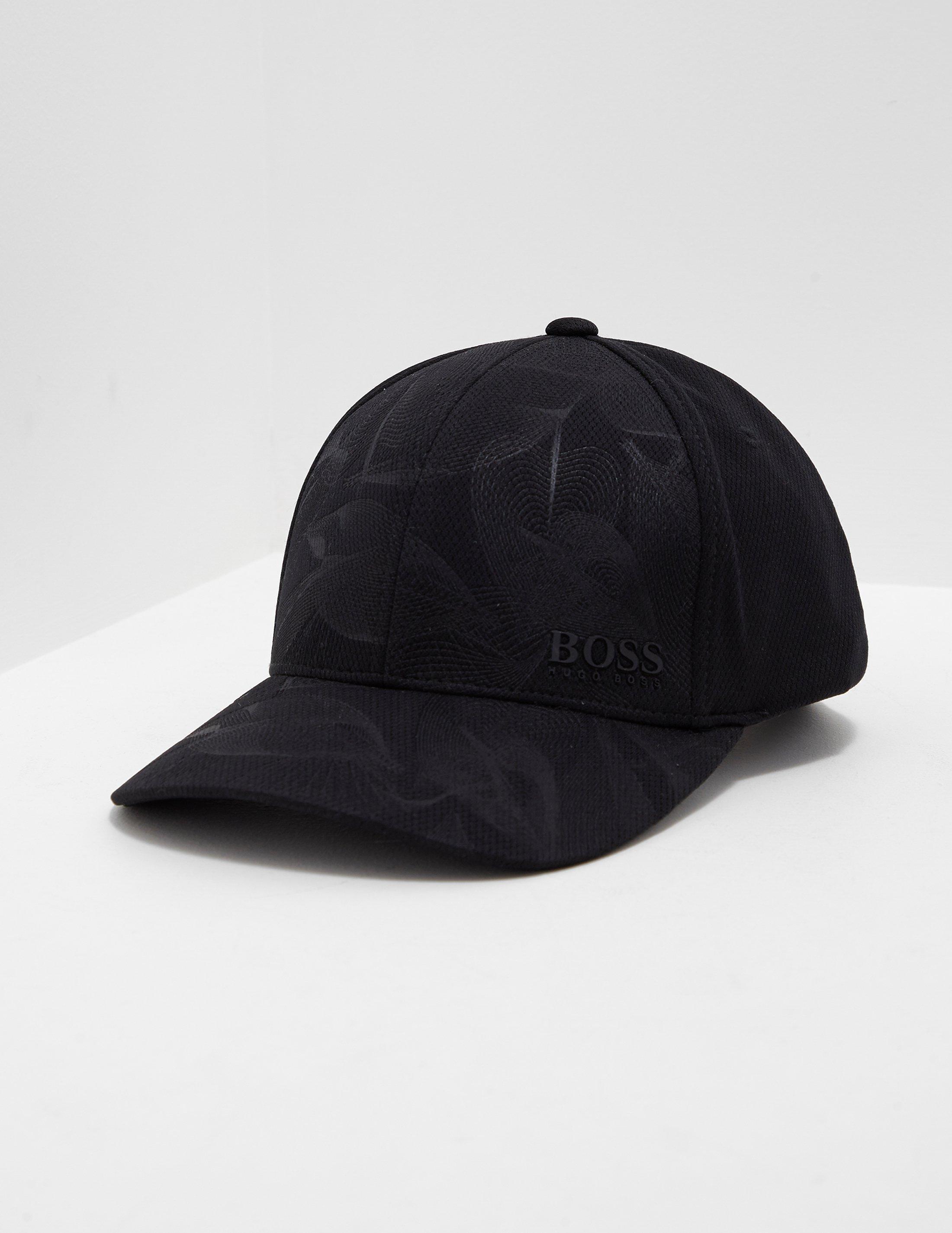 5a7ea889b6b Lyst - BOSS Mens Poly Print Cap Black in Black for Men