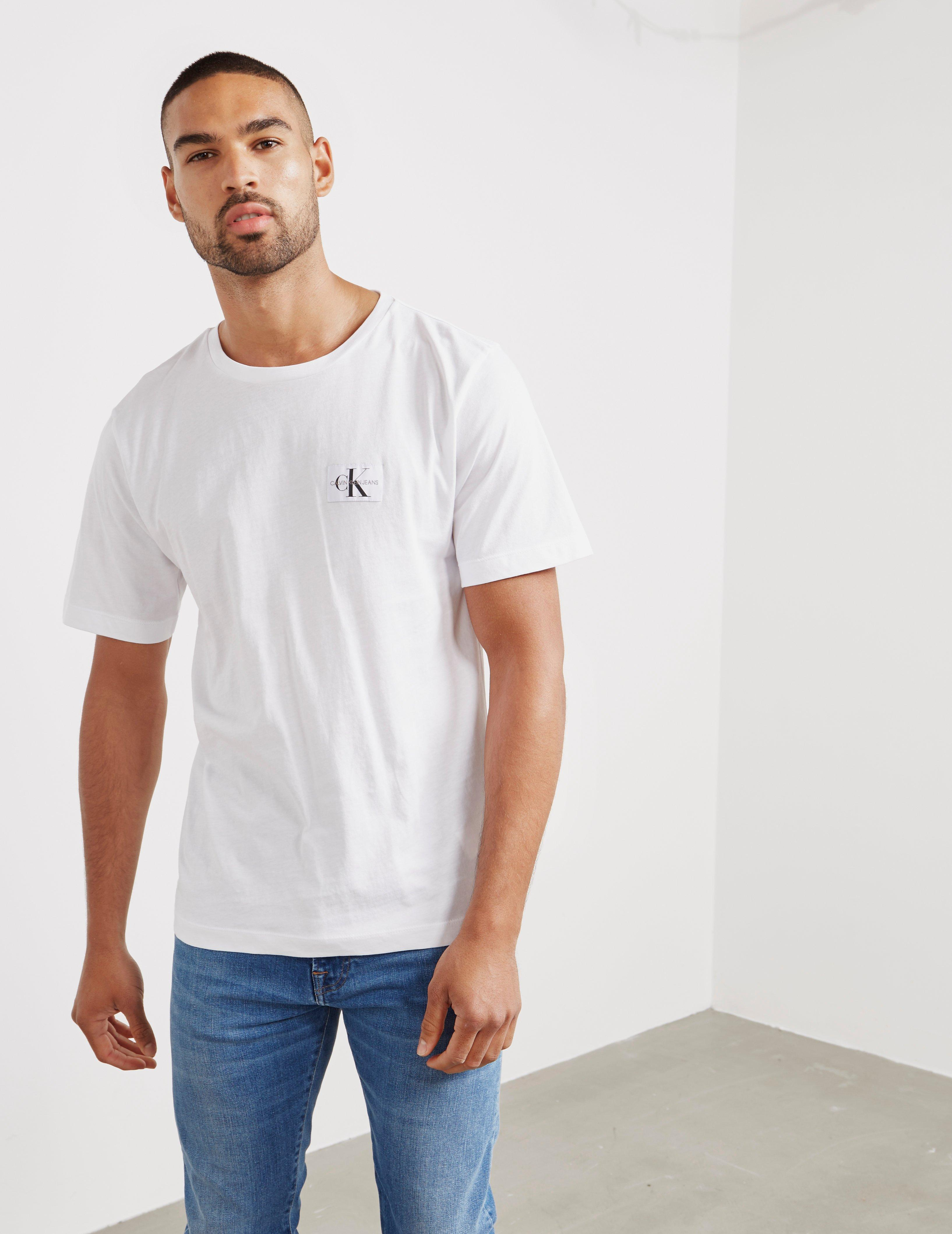 d4d708f93 Lyst - Calvin Klein Mens Monogram Short Sleeve T-shirt White in ...