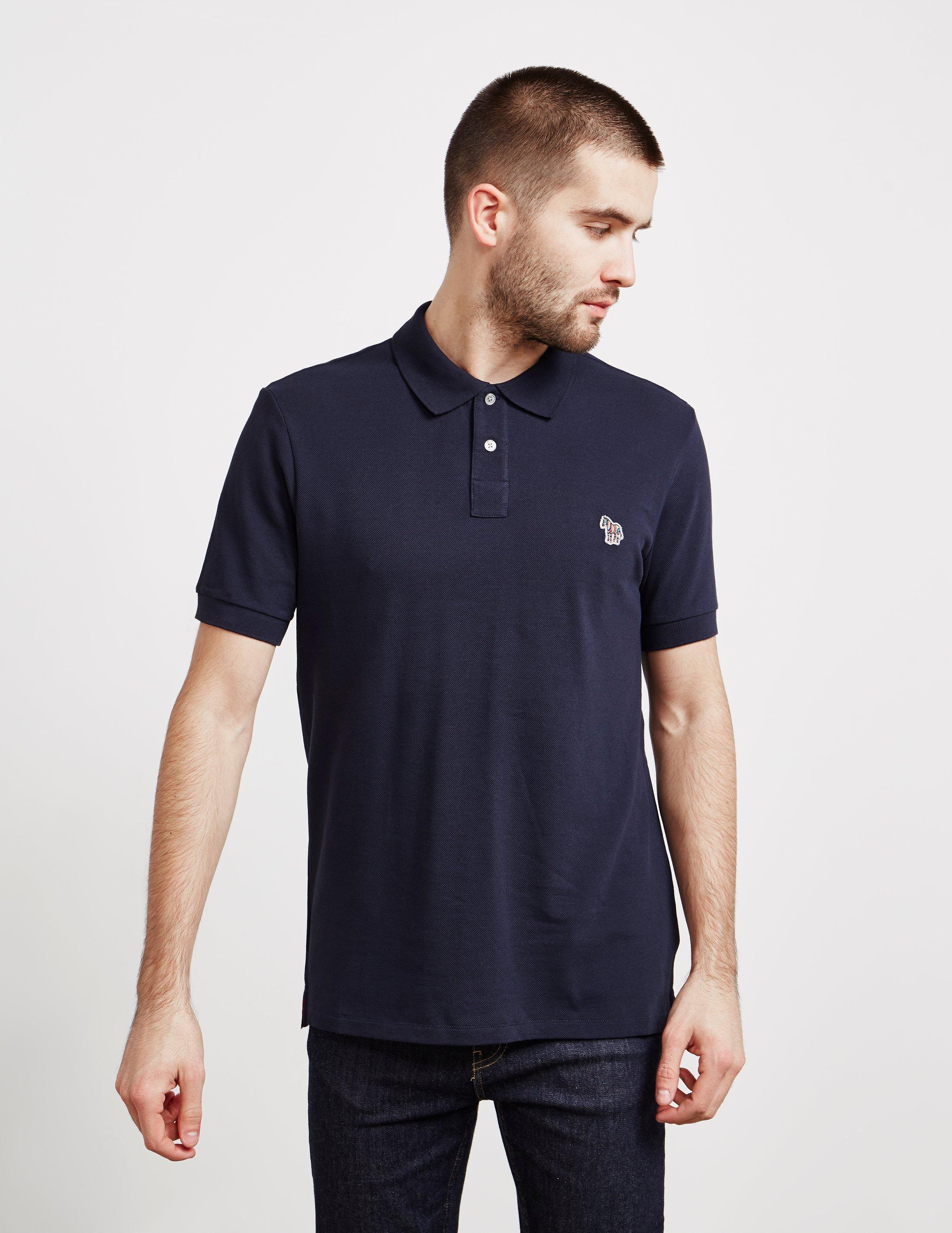 b4682694b06461 Lyst - PS by Paul Smith Zebra Short Sleeve Polo Shirt Navy Blue in ...