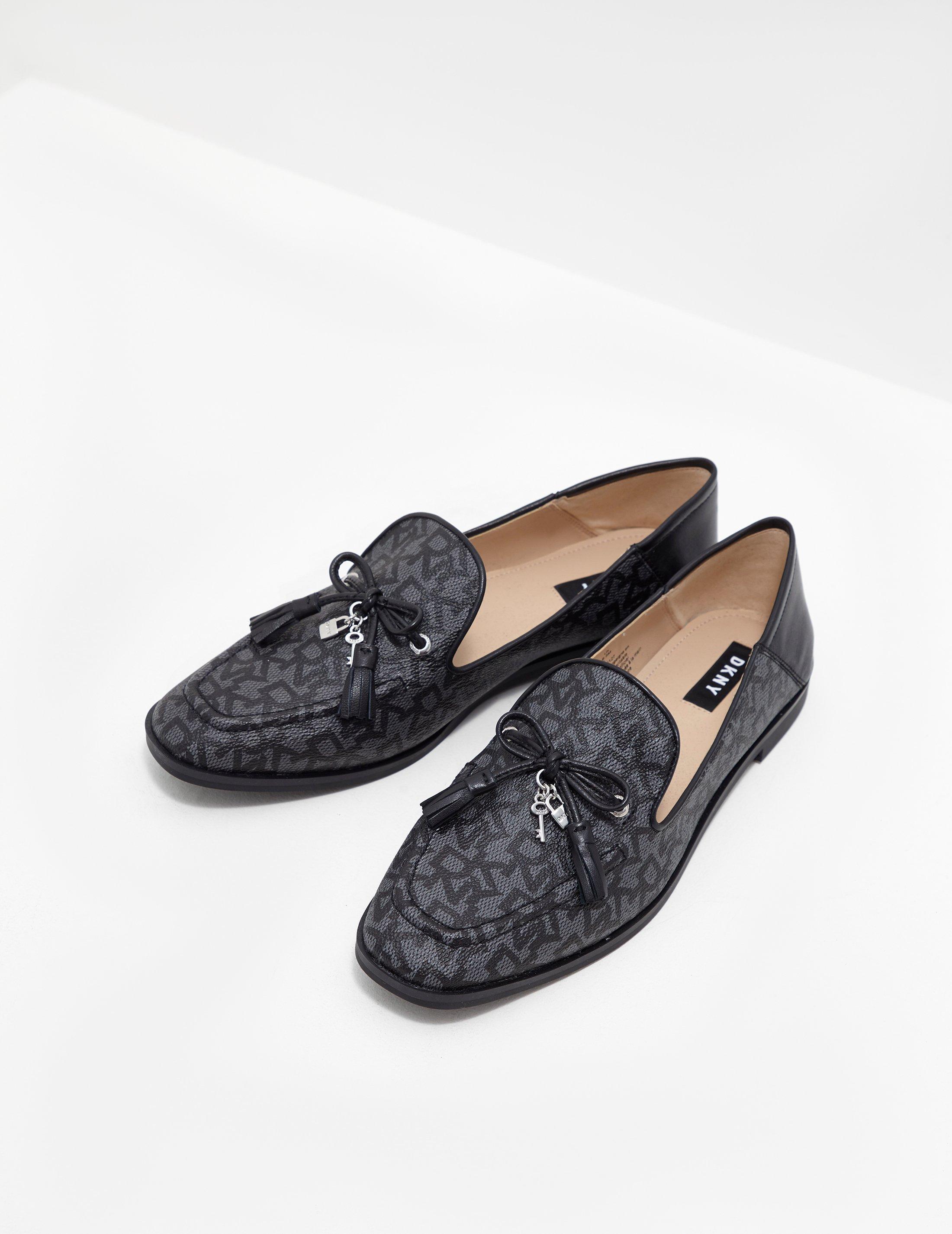 1db81e9f370 Lyst - DKNY Laura Slip On Flats - Online Exclusive Black in Black