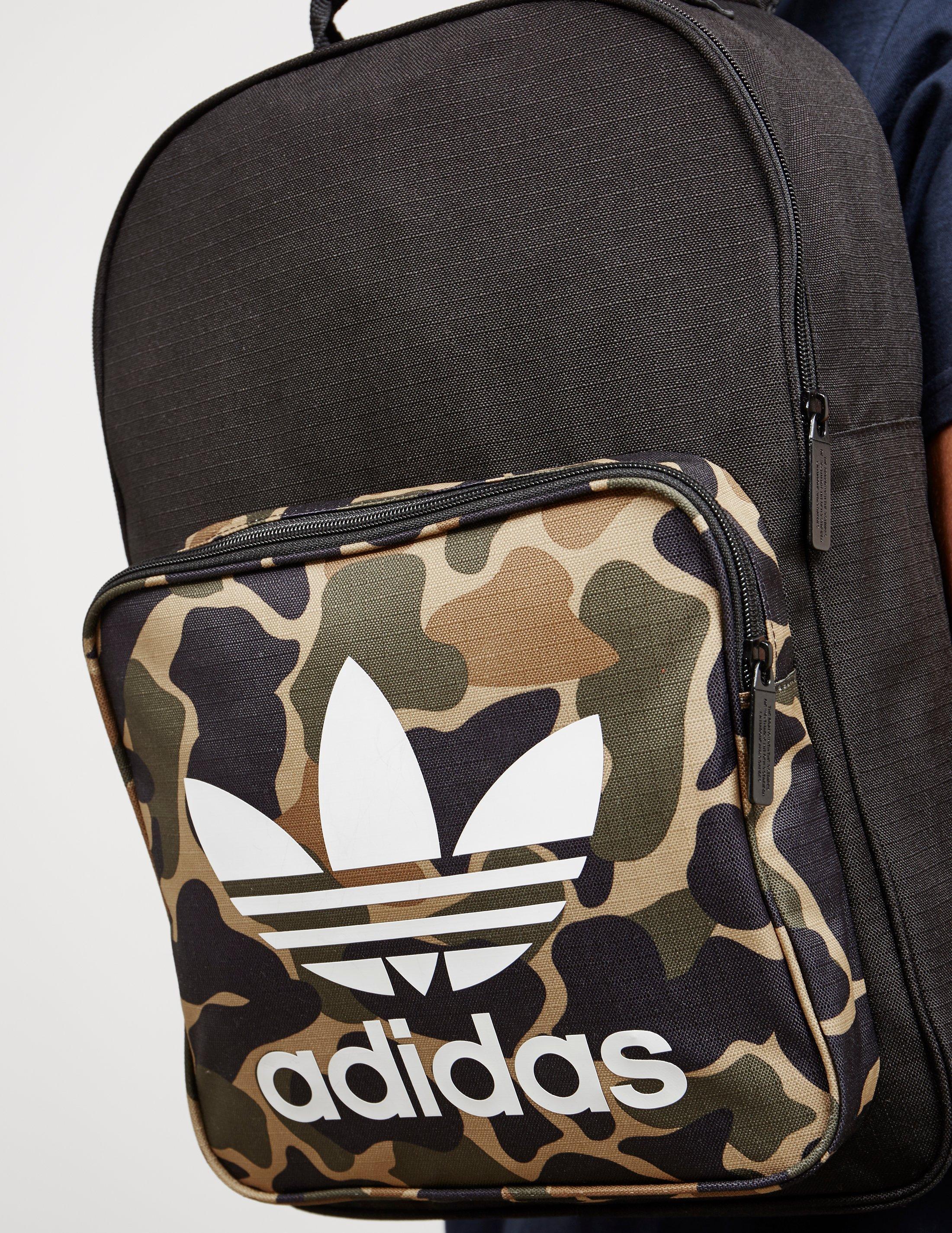 adidas Originals Womens Trefoil Backpack Camo black in Black for Men ... f3939d2817fb5