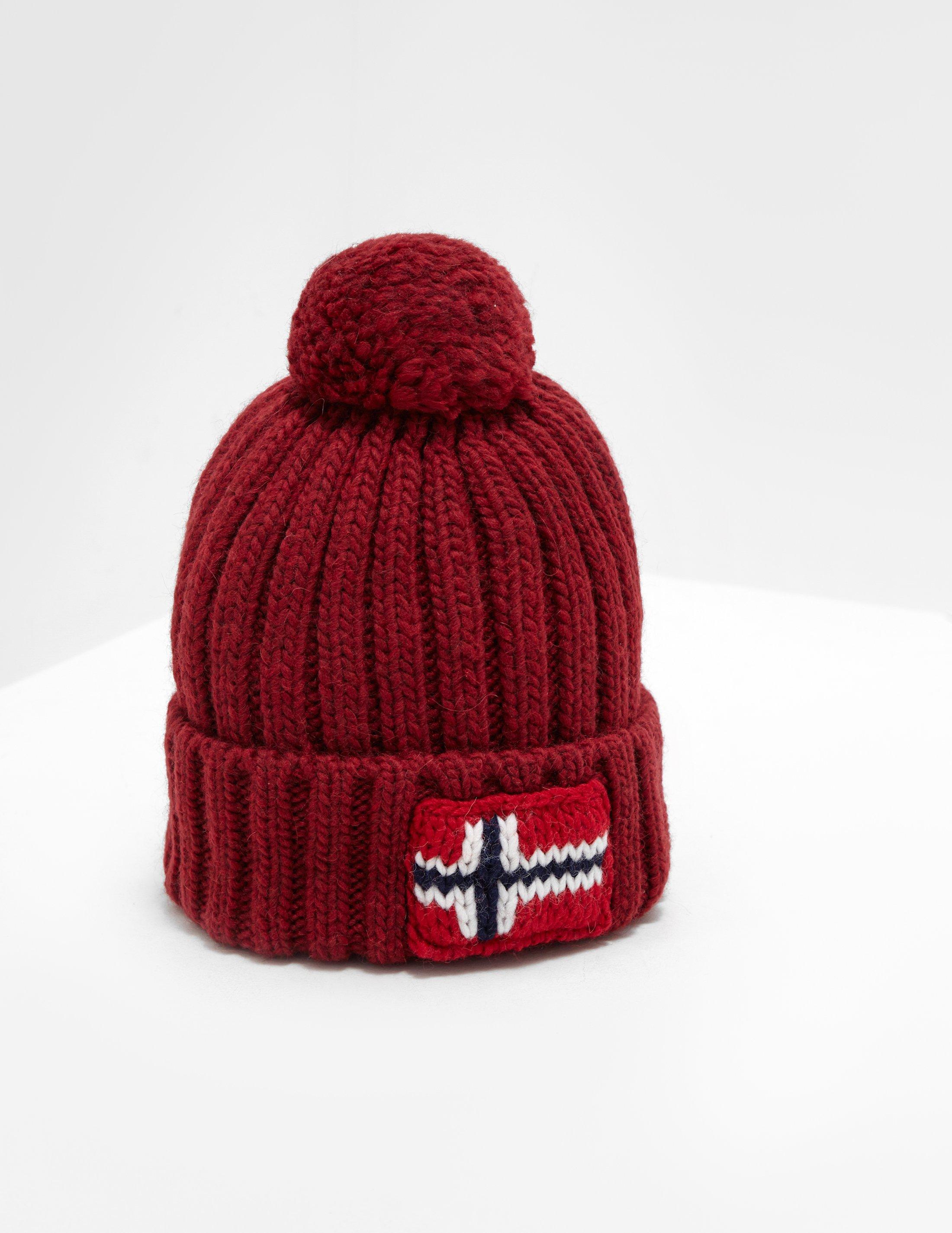 Napapijri Semiury Bobble Hat Burgundy burgundy in Red for Men - Lyst 2c1844261a6