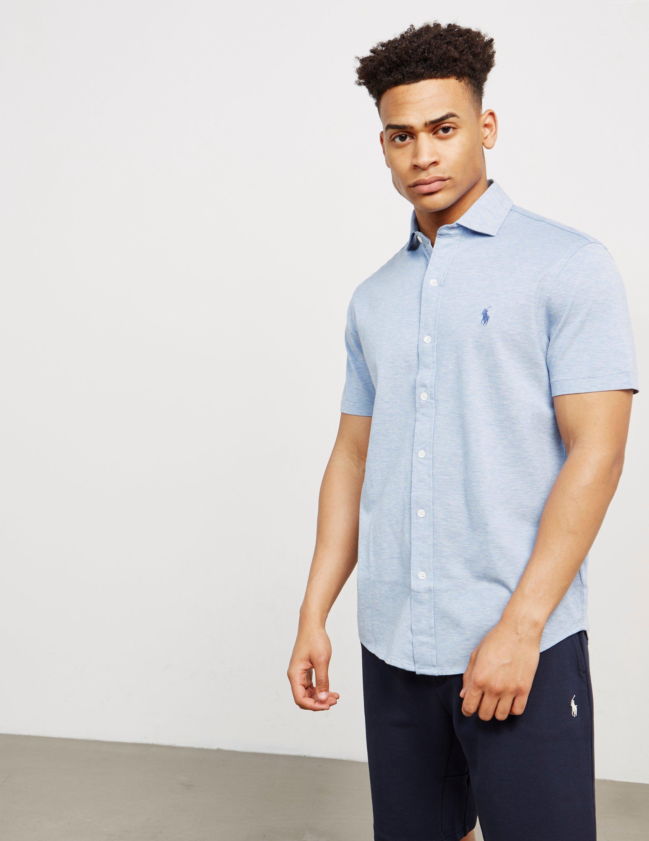 85d39be40 Ralph Lauren Mens Short Sleeved Seersucker Button Down Shirt