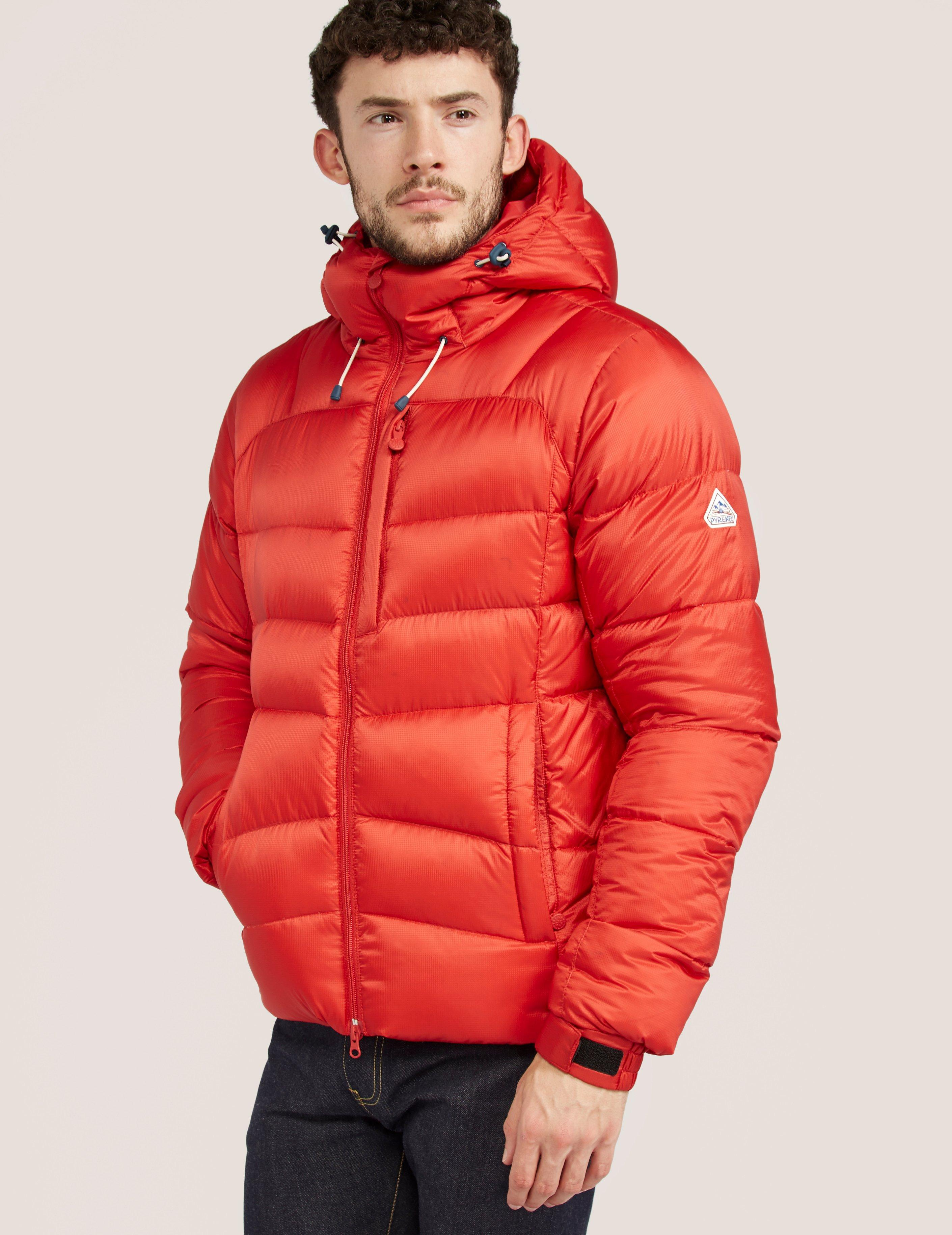 Lyst pyrenex hudson quilted jacket in red for men for Quilted jackets for men