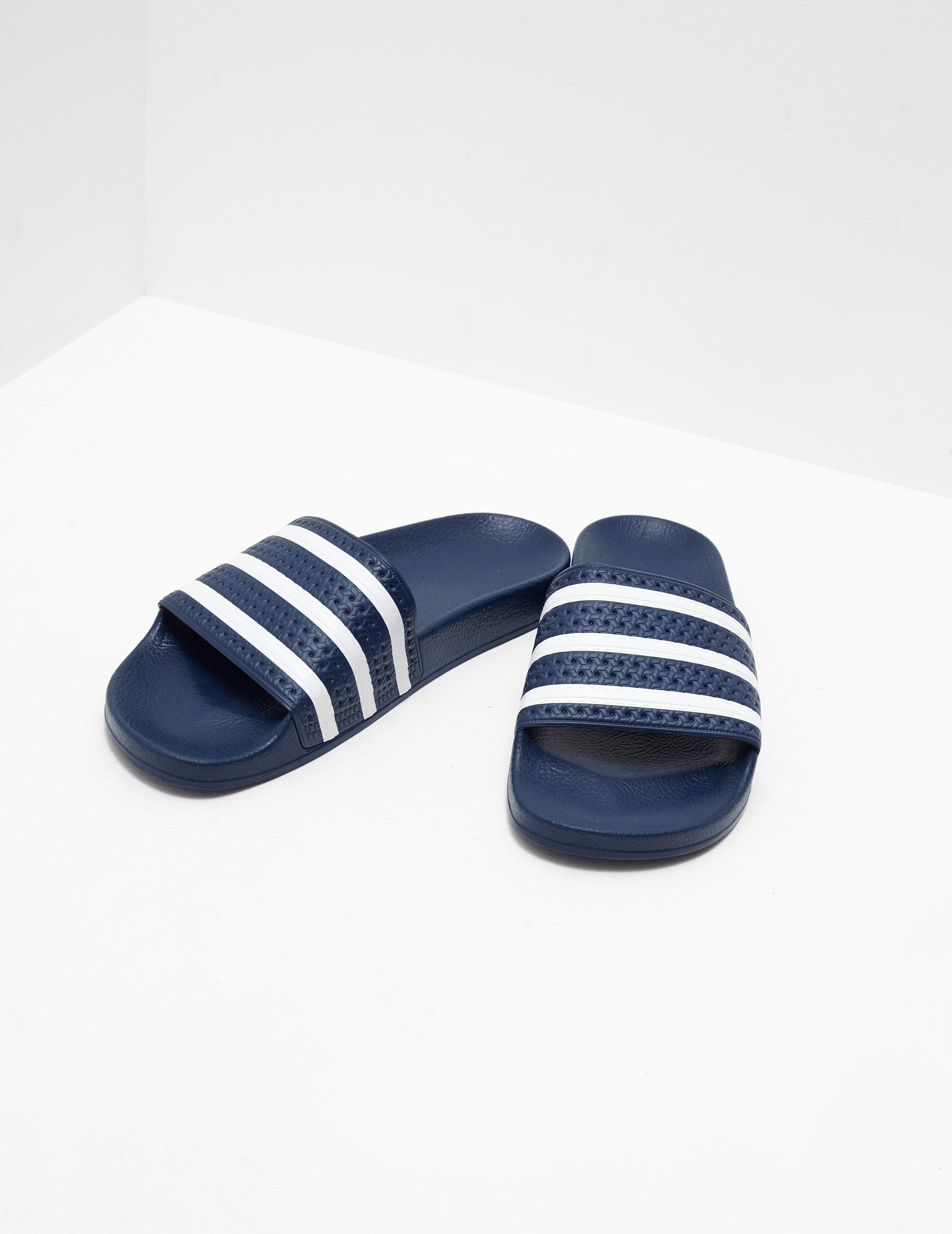 c2db7e4ca3f2 Lyst - adidas Originals Mens Adilette Slides Blue white in Blue for Men