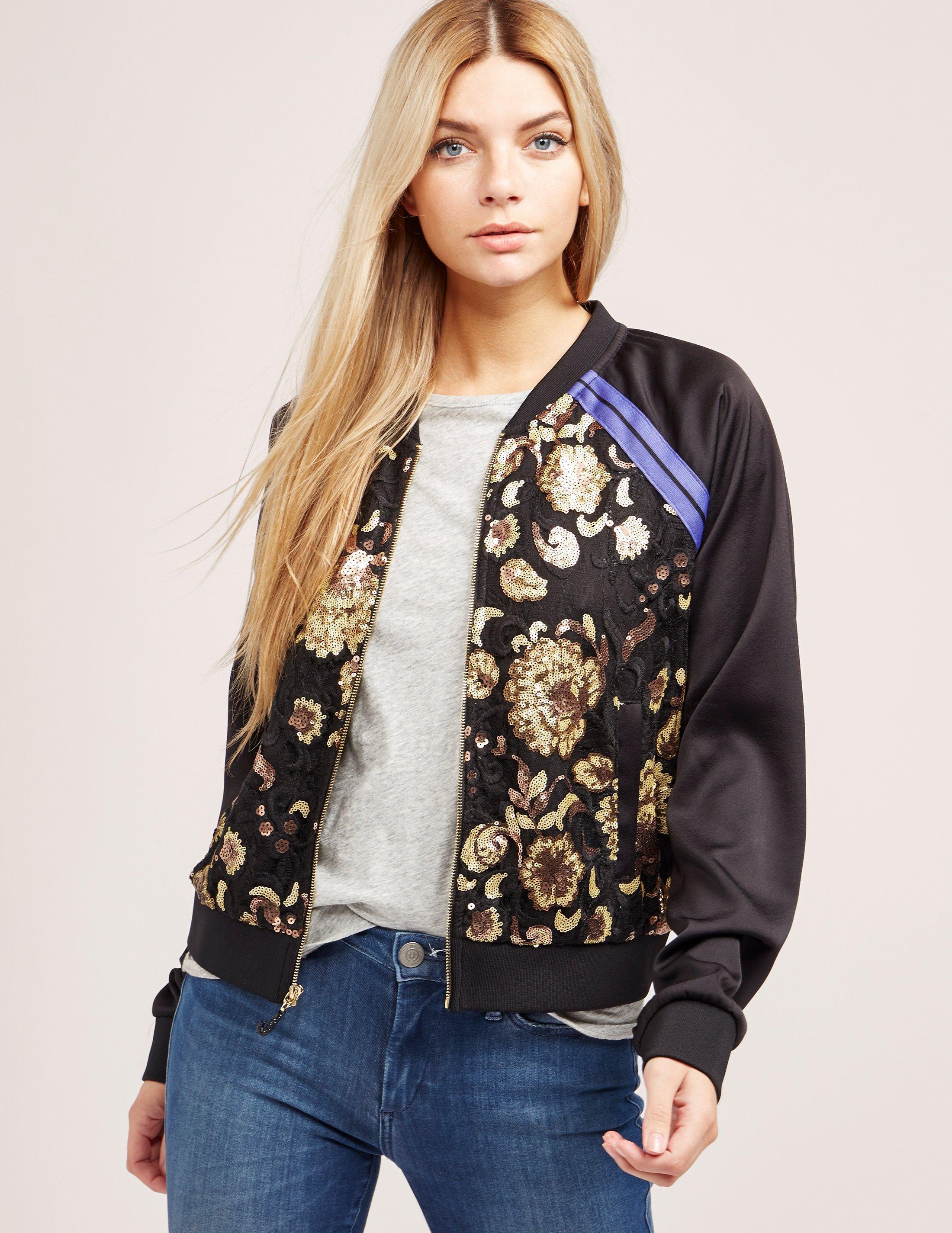 Women Basic Coats 2017 Embroidery Bomber Jacket Women Ladies Satin Embroidery  Bomber Jackets Autumn Winter Satin