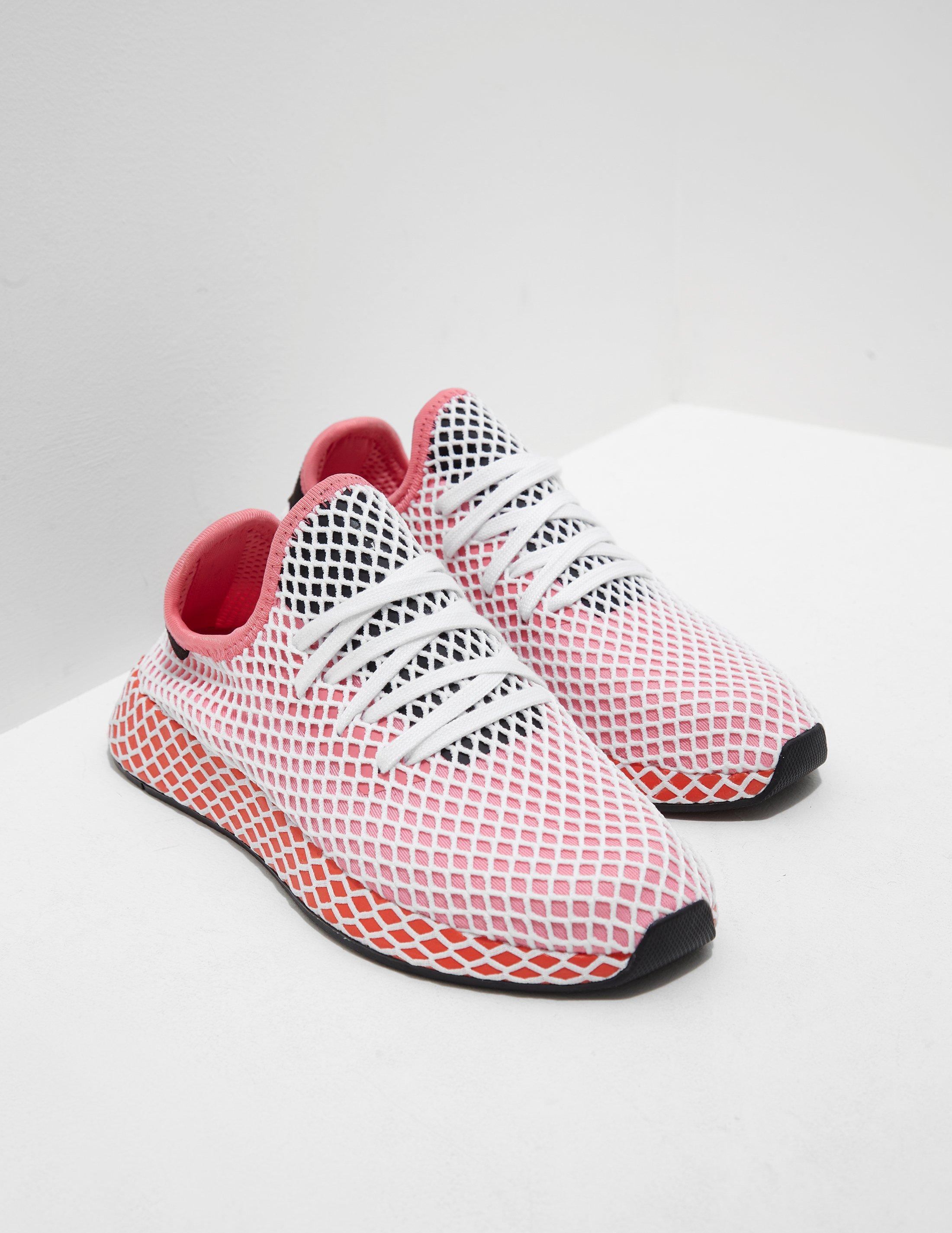 lyst adidas originali di donne deerupt donna rosa in rosa