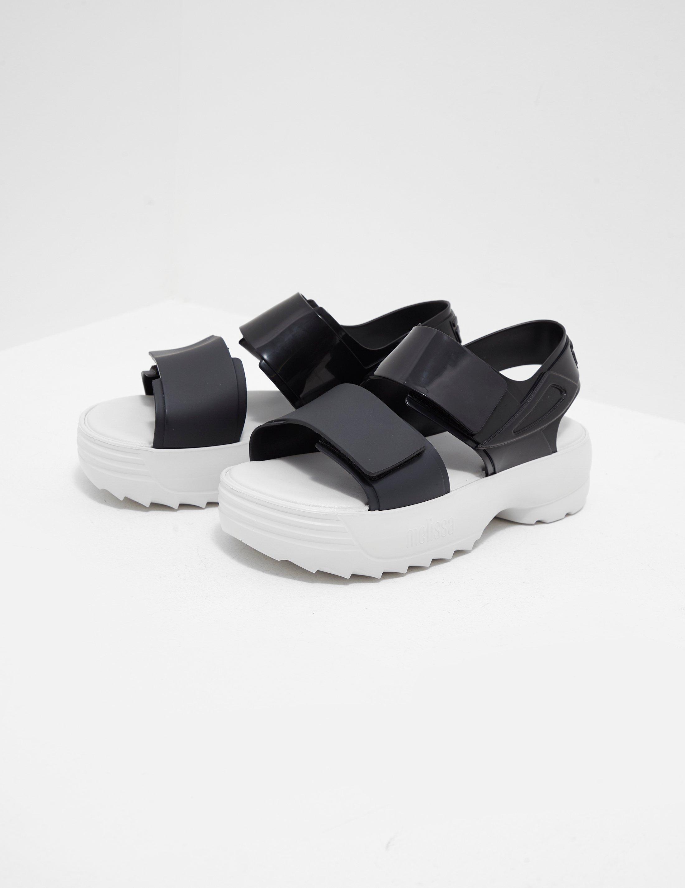 963a8c9add68 Melissa X Fila Sandals Black in Black - Lyst