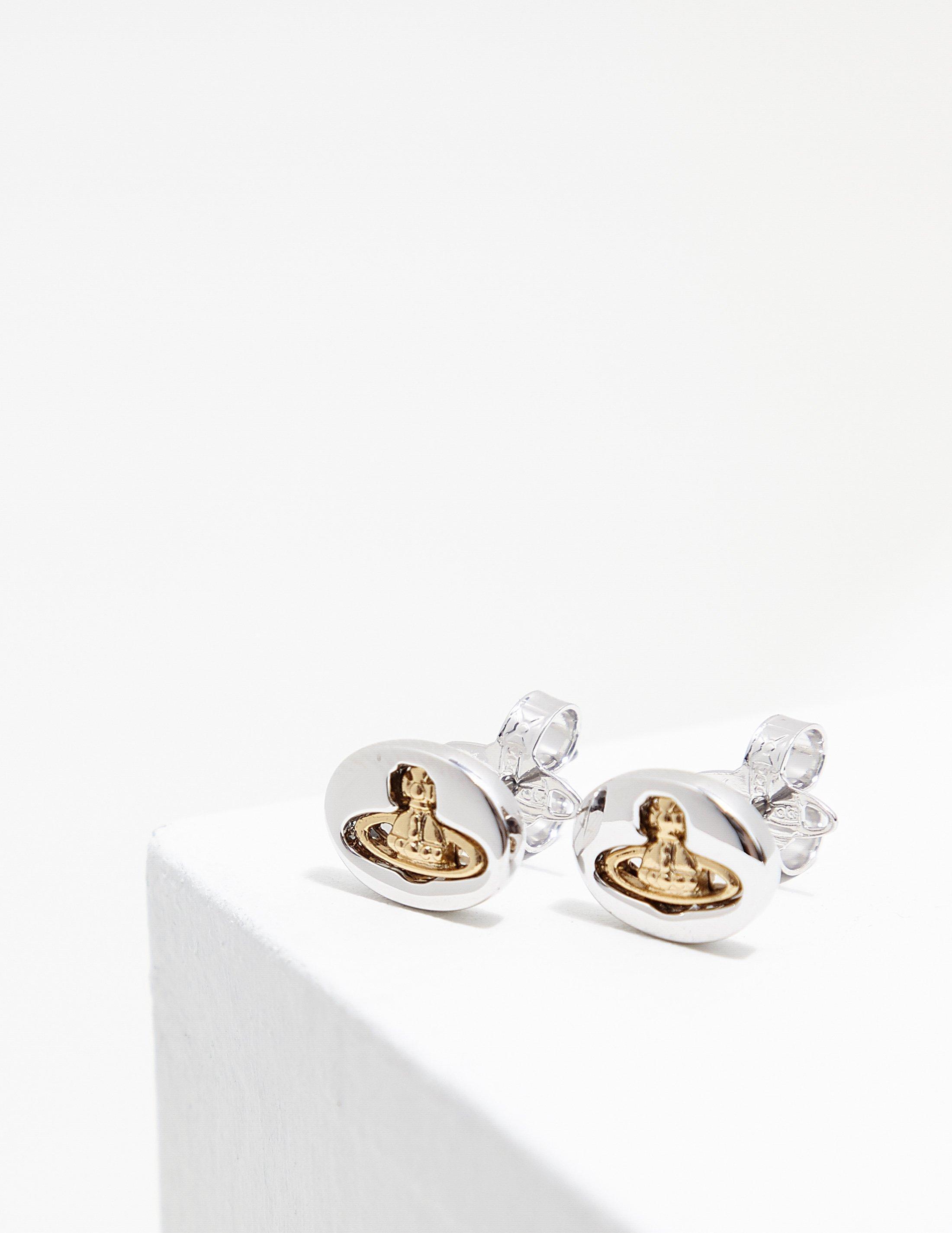 1fe15a814 Lyst - Vivienne Westwood Womens Embossed Earrings Silver in Metallic